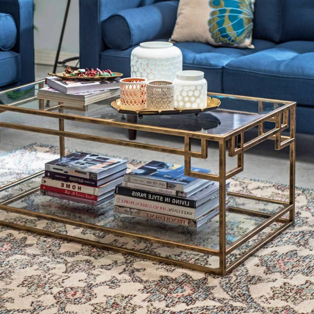 Favorite The Curated Nomad Quatrefoil Goldtone Metal And Glass Coffee Tables Within Sofia Coffee Table (View 5 of 20)