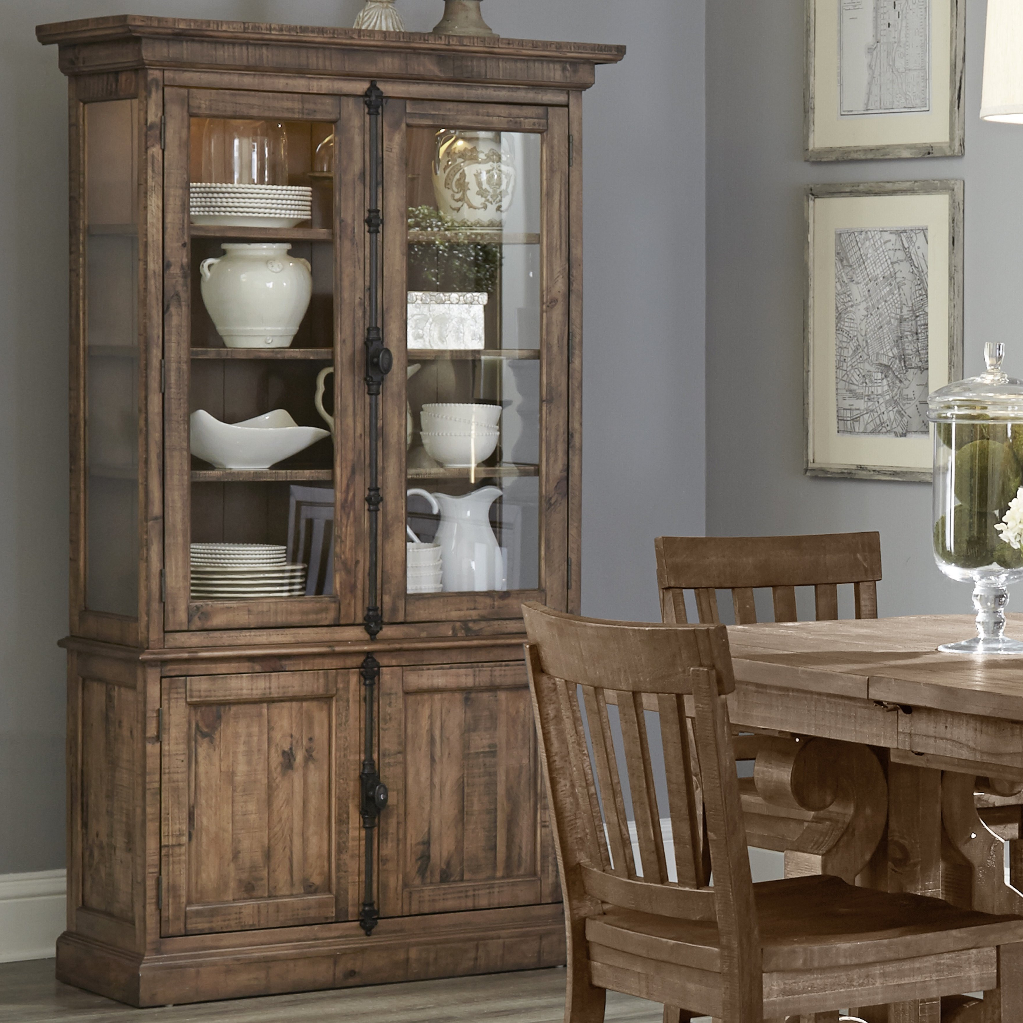 Filkins Lighted China Cabinet Pertaining To Filkins Sideboards (View 8 of 20)
