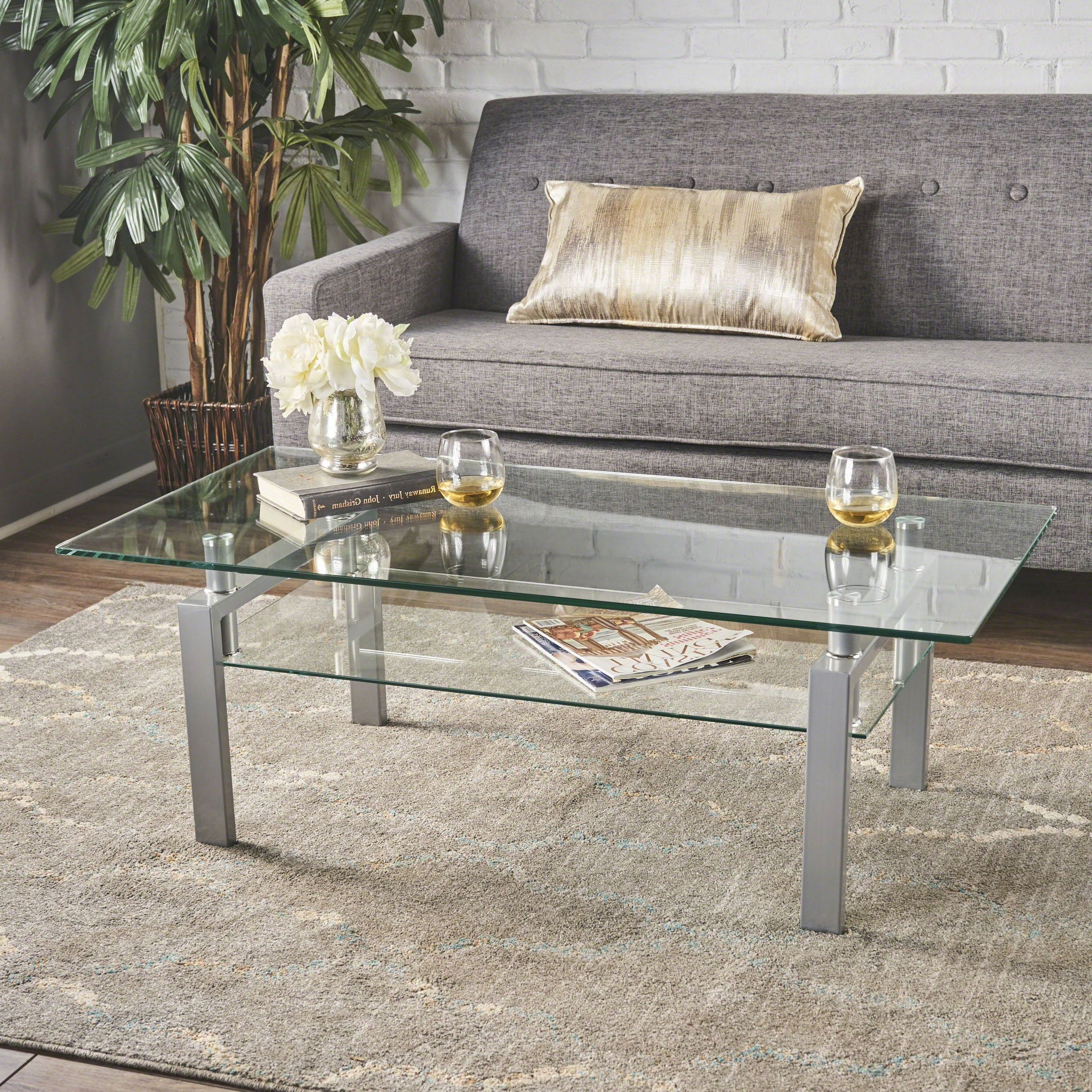 Featured Photo of Finbar Modern Rectangle Glass Coffee Tables