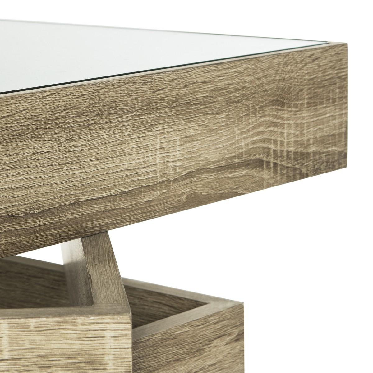 Fox4250a Coffee Tables – Furnituresafavieh For Latest Safavieh Anwen Geometric Wood Coffee Tables (View 6 of 20)