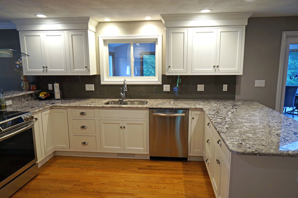 Frosty White Beaded Inset Kitchen In Milford – Traditional Intended For Well Known Milford Kitchen Pantry (View 5 of 20)