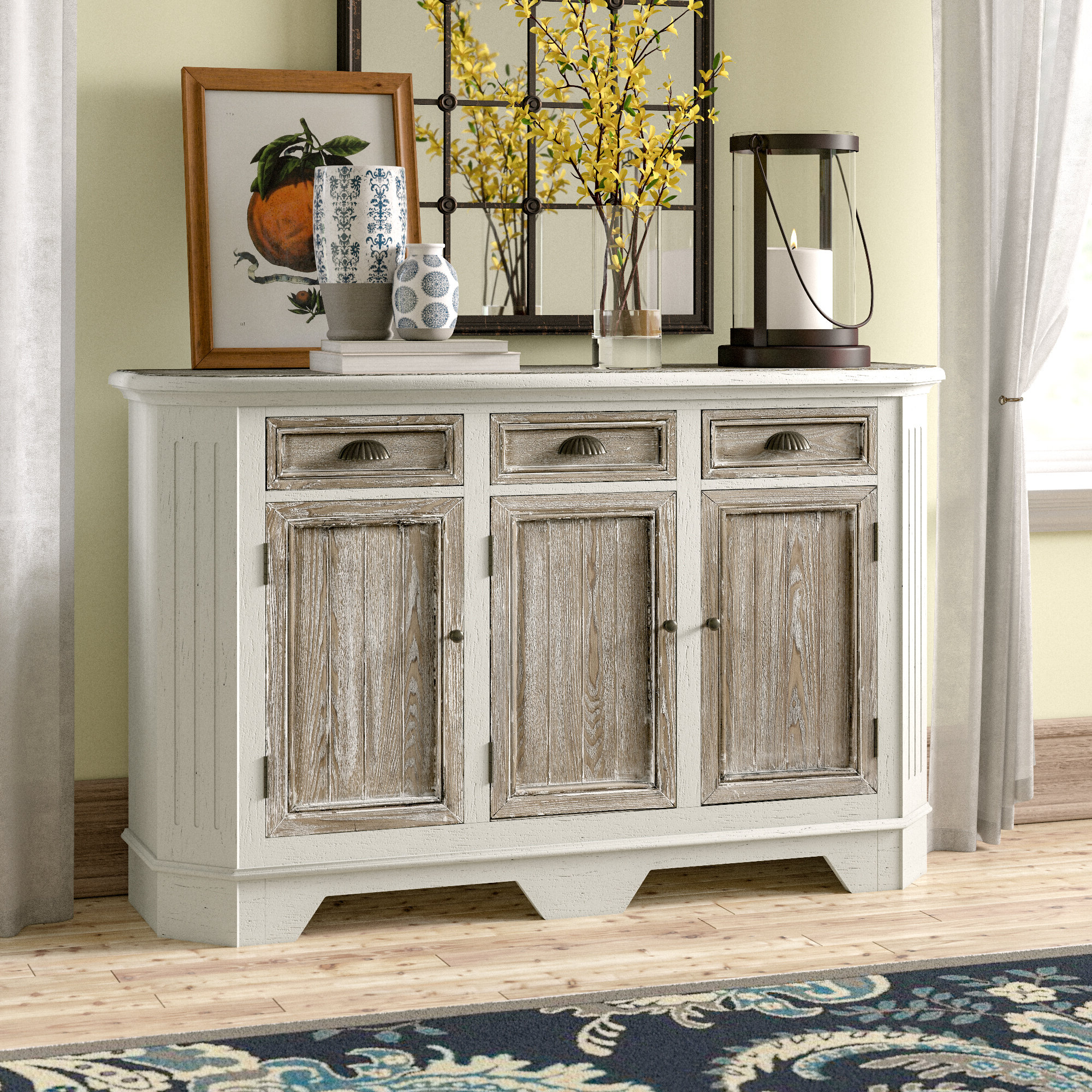 Funkhouser 3 Door 3 Drawer Sideboard For Papadopoulos Sideboards (View 15 of 20)