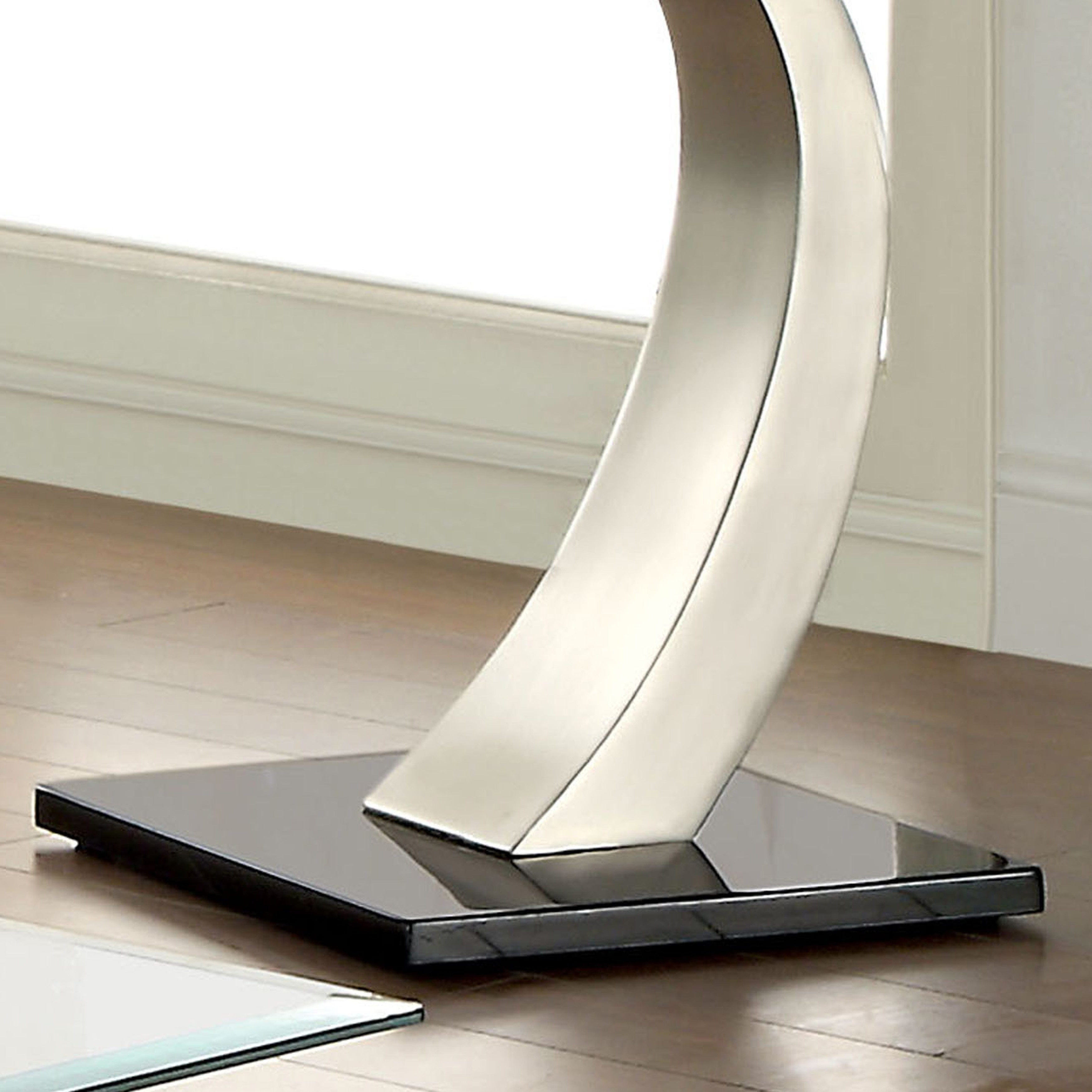 Furniture Of America Carmella Satin Plated End Table With Regard To Trendy Carmella Satin Plated Coffee Tables (View 17 of 20)