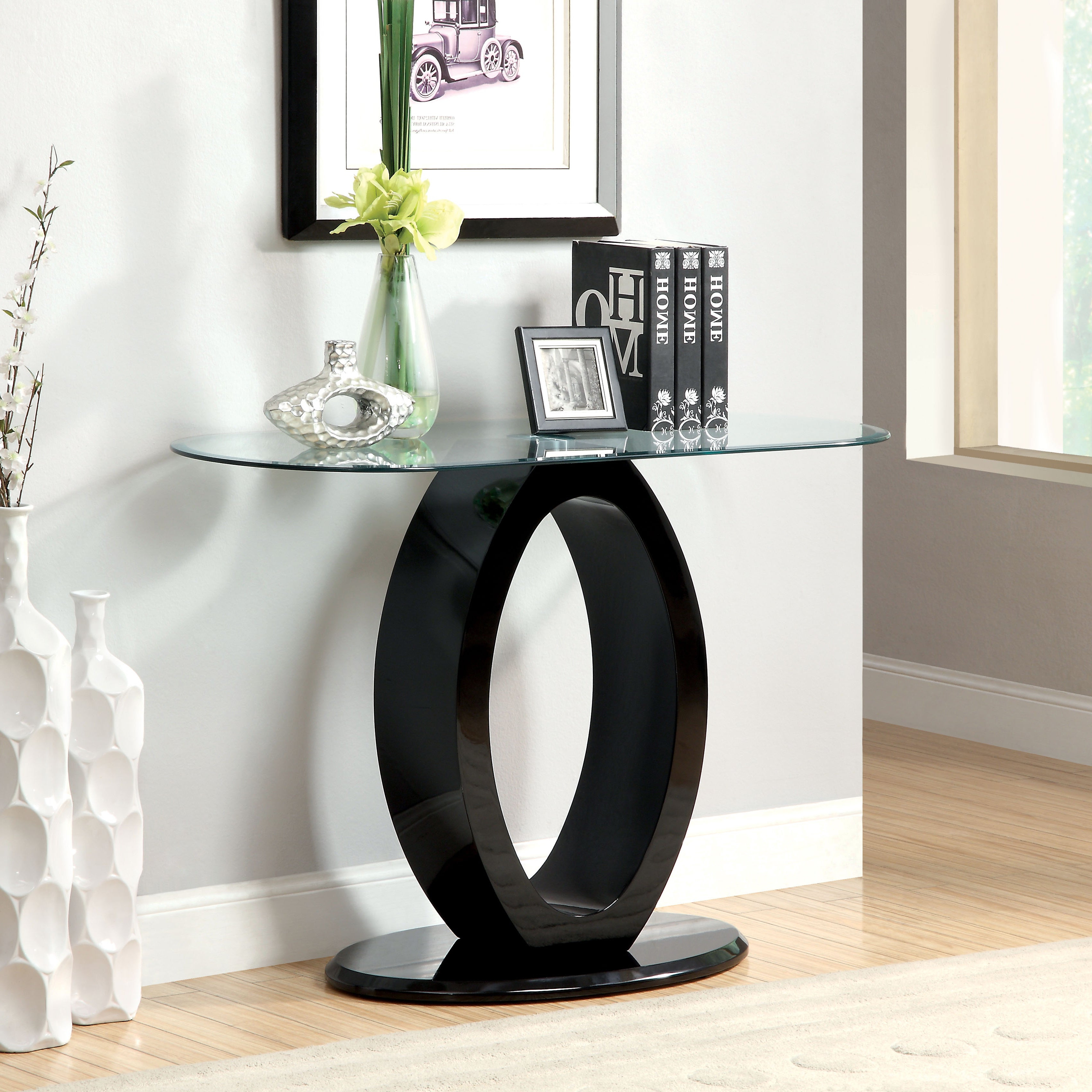 Furniture Of America Opelle Modern O Shaped Sofa Table Inside Latest Strick & Bolton Totte O Shaped Coffee Tables (View 13 of 20)
