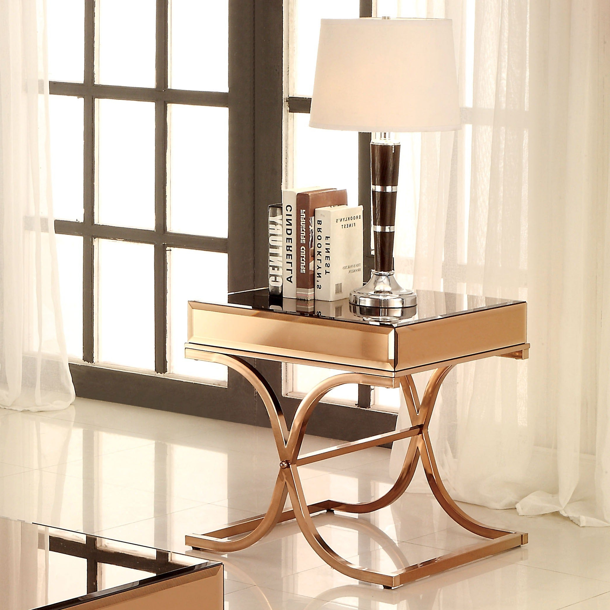 Furniture Of America Orelia Luxury Copper Metal End Table With Most Popular Furniture Of America Orelia Brass Luxury Copper Metal Coffee Tables (View 11 of 20)