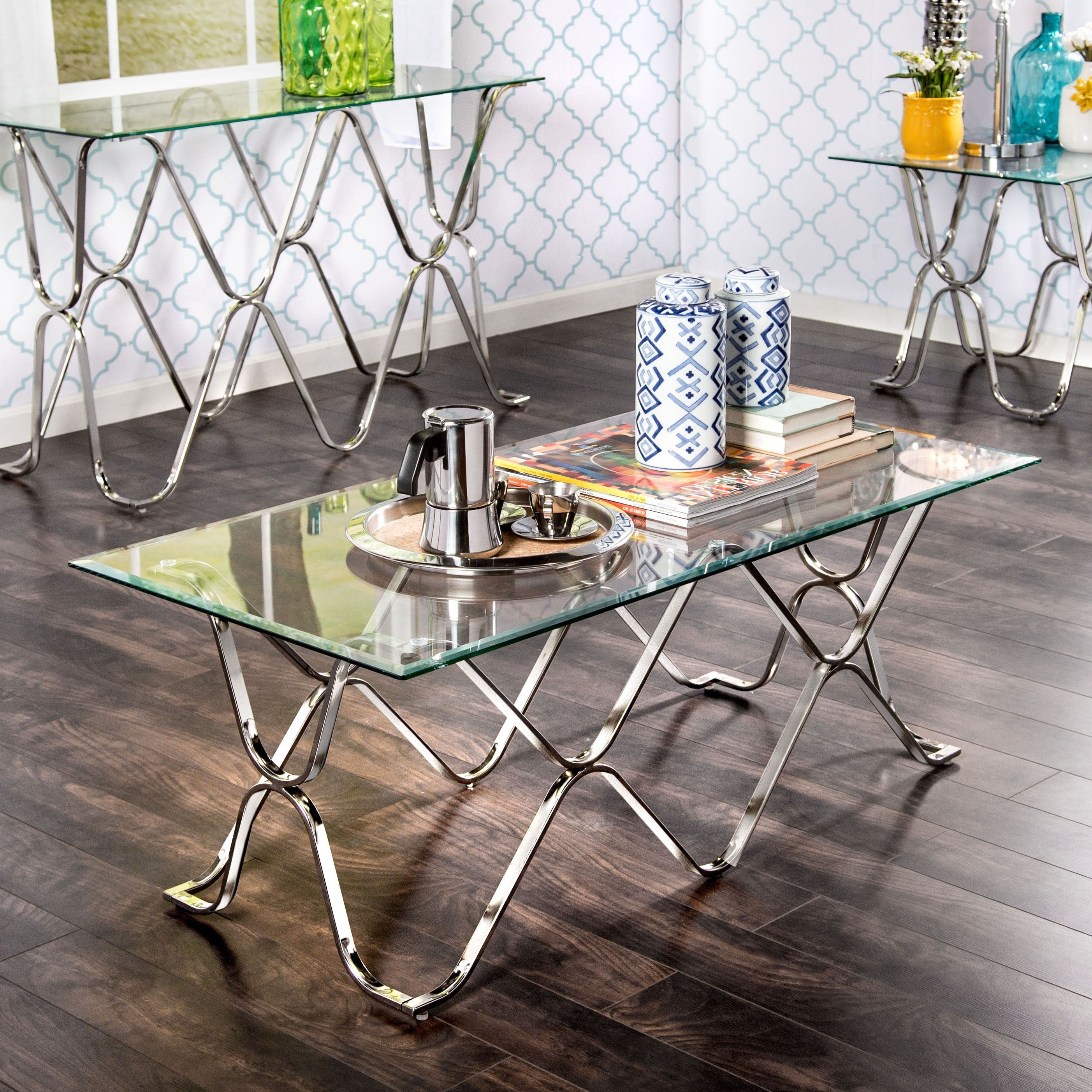 Featured Photo of Furniture Of America Tellarie Contemporary Chrome Coffee Tables