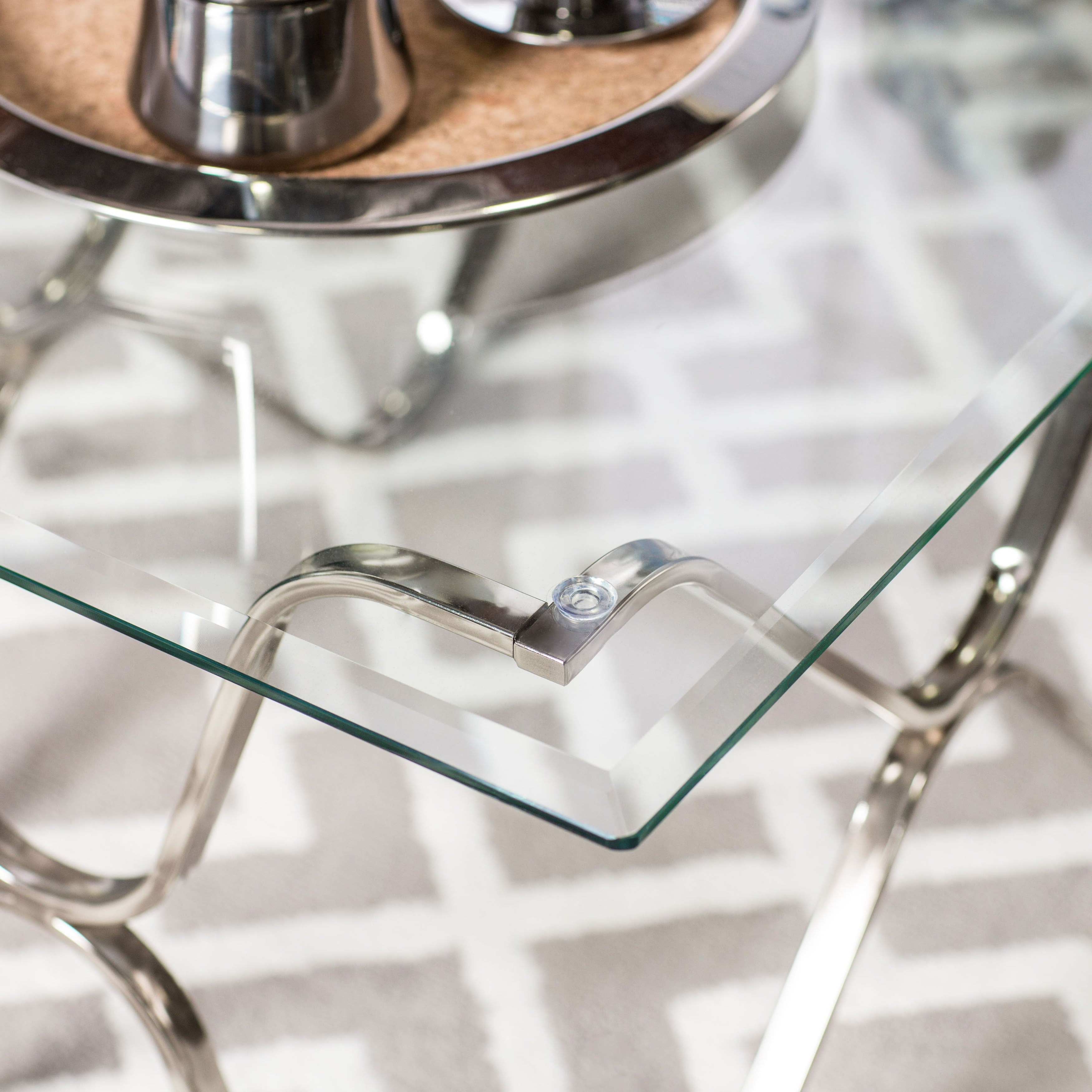 Furniture Of America Tellarie Contemporary Chrome Coffee Table – Silver Inside Most Up To Date Furniture Of America Tellarie Contemporary Chrome Coffee Tables (View 6 of 20)