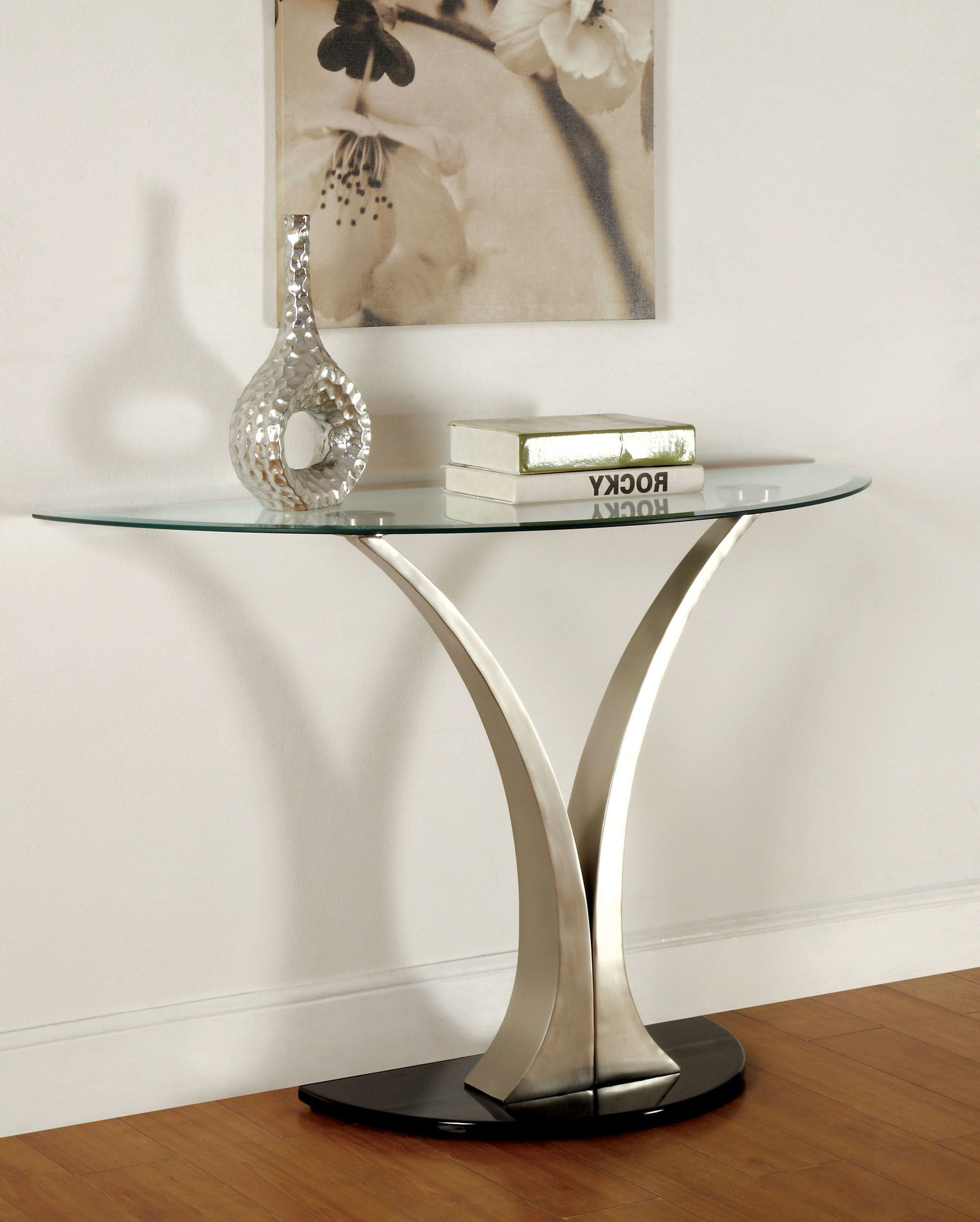 Furniture Of America Valo Bevelled Glass Top Modern Coffee With Fashionable Carmella Satin Plated Coffee Tables (View 16 of 20)