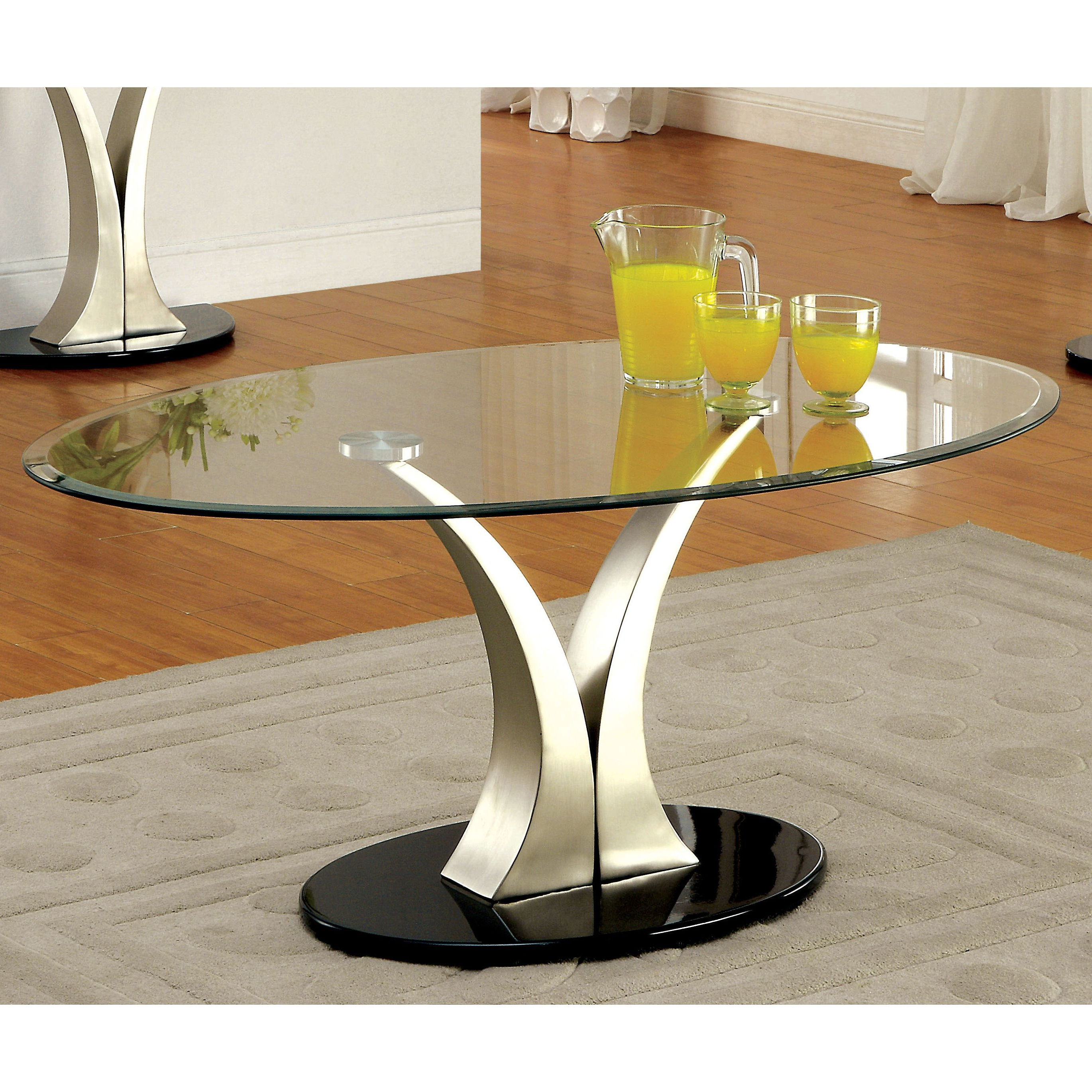 Featured Photo of Velma Modern Satin Plated Coffee Tables