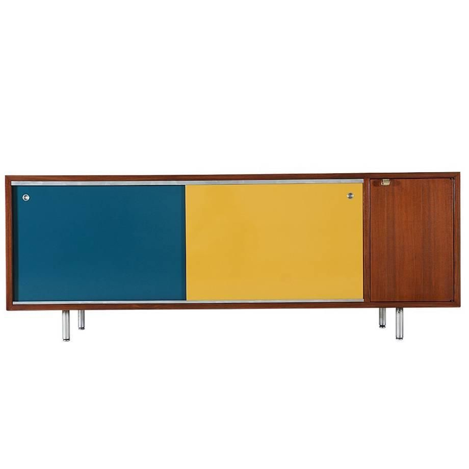 George Nelson Multi Color Credenza For Herman Miller With Regard To Womack Sideboards (Gallery 16 of 20)
