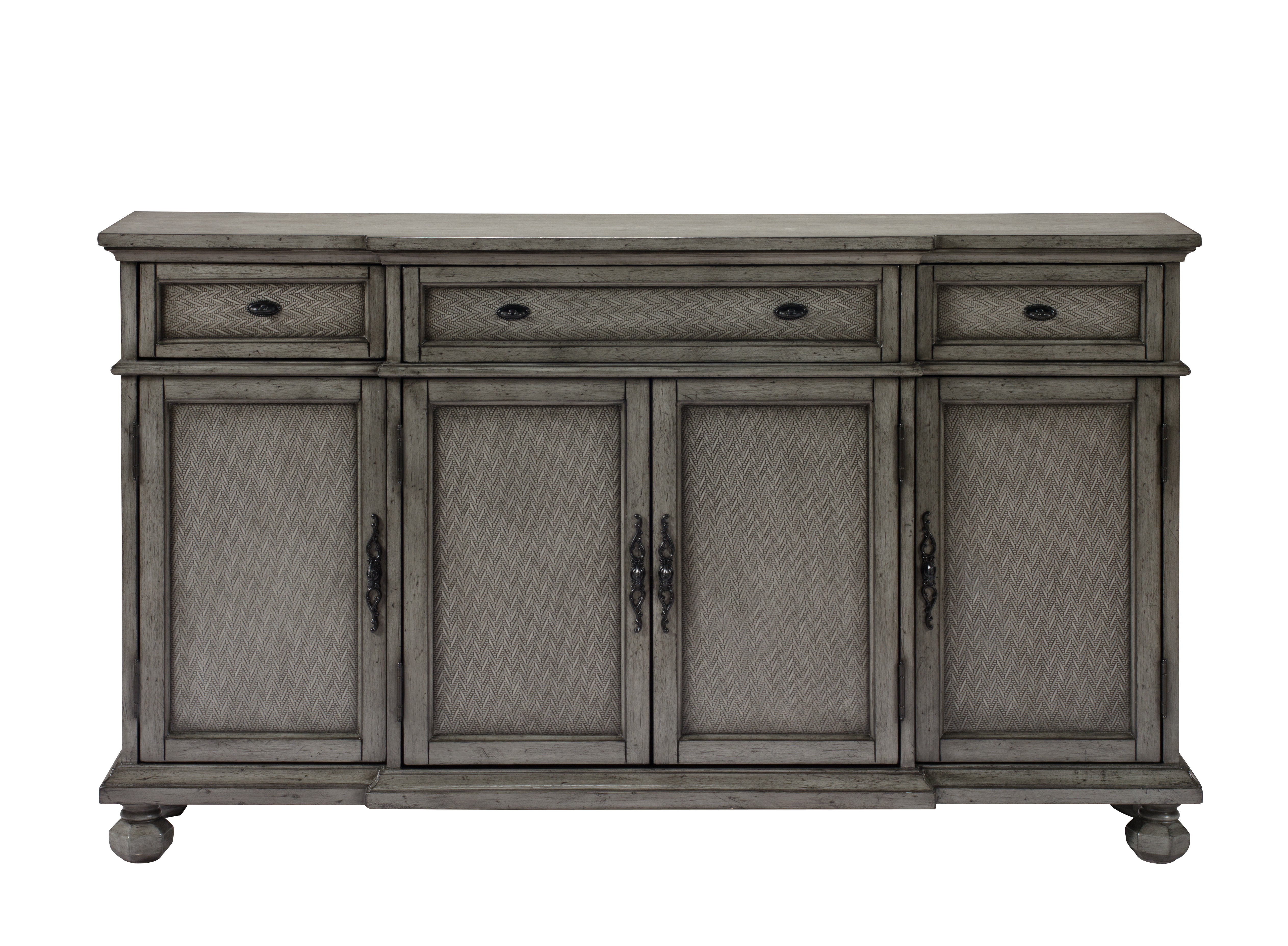 Giulia 3 Drawer Credenza & Reviews | Joss & Main Regarding Ilyan Traditional Wood Sideboards (View 4 of 20)