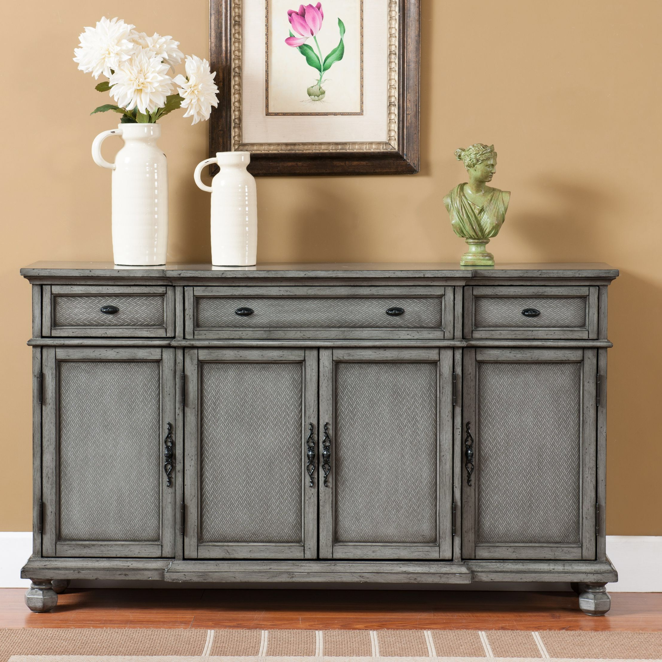 Giulia 3 Drawer Credenza | Tables & Chairs | Credenza Intended For Giulia 3 Drawer Credenzas (Gallery 3 of 20)