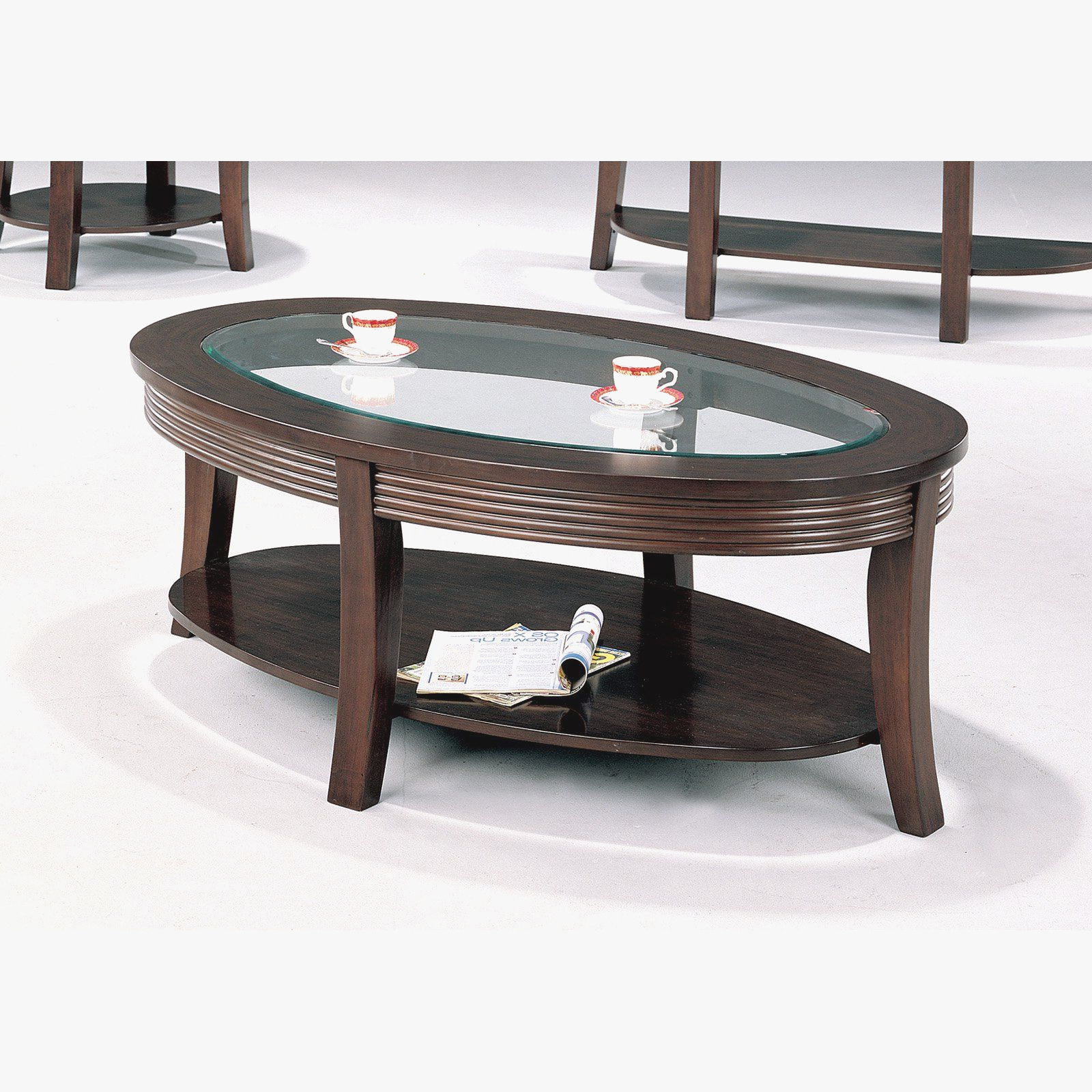 Glass Coffee Table Oval Luxury Coaster Furniture Oval Coffee With Preferred Copper Grove Woodend Glass Top Oval Coffee Tables (Gallery 19 of 20)