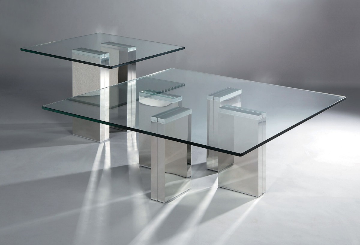Glass Coffee Tables And End Tables Set Furniture – Nicole With Regard To Most Recent Strata Chrome Glass Coffee Tables (Gallery 9 of 20)
