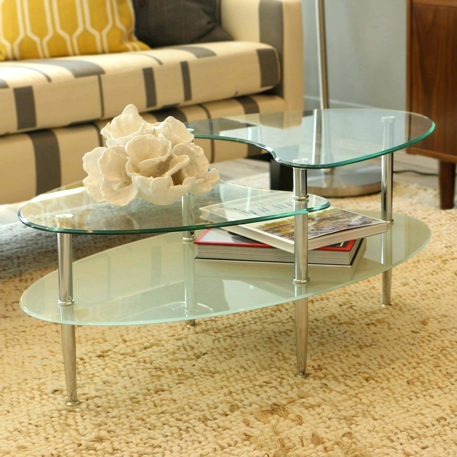 Glass Oval Coffee Table – Willodeanguider.co With Most Popular Propel Modern Chrome Oval Coffee Tables (Gallery 14 of 20)