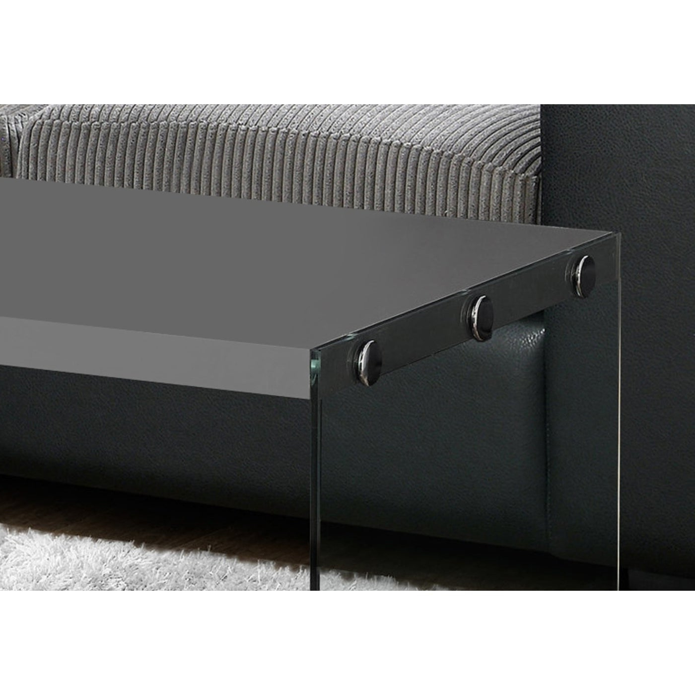 Gloss Grey Hollow Core Tempered Glass Cocktail Table In Most Up To Date Glossy White Hollow Core Tempered Glass Cocktail Tables (Gallery 7 of 20)