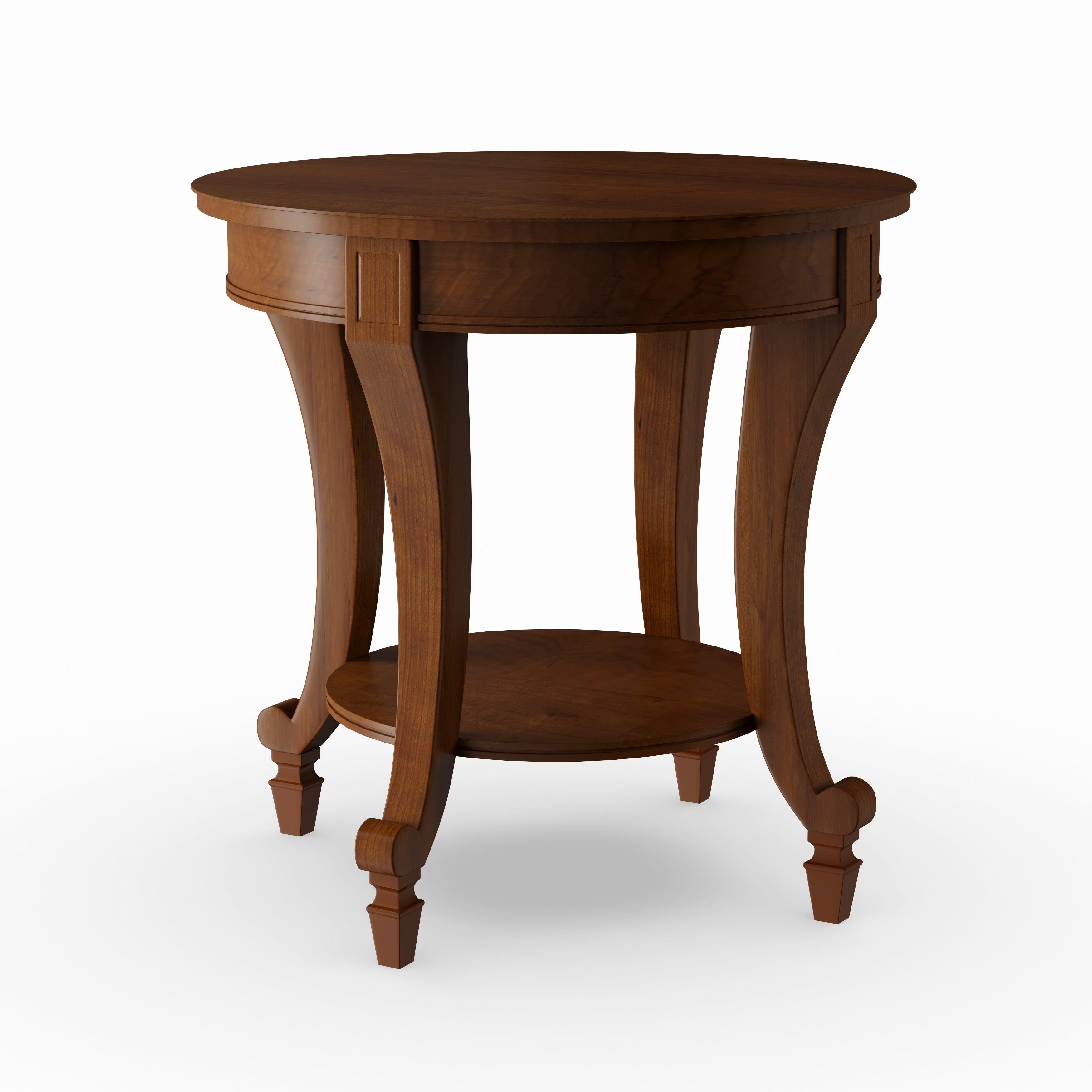 Gracewood Hollow Dones Traditional Cinnamon Round End Table Inside 2020 Gracewood Hollow Dones Traditional Cinnamon Round End Tables (View 2 of 20)