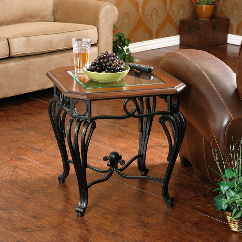 Gracewood Hollow Salinger Glass Top End Table For Best And Newest Gracewood Hollow Salinger Prentice Cocktail Tables (View 3 of 20)