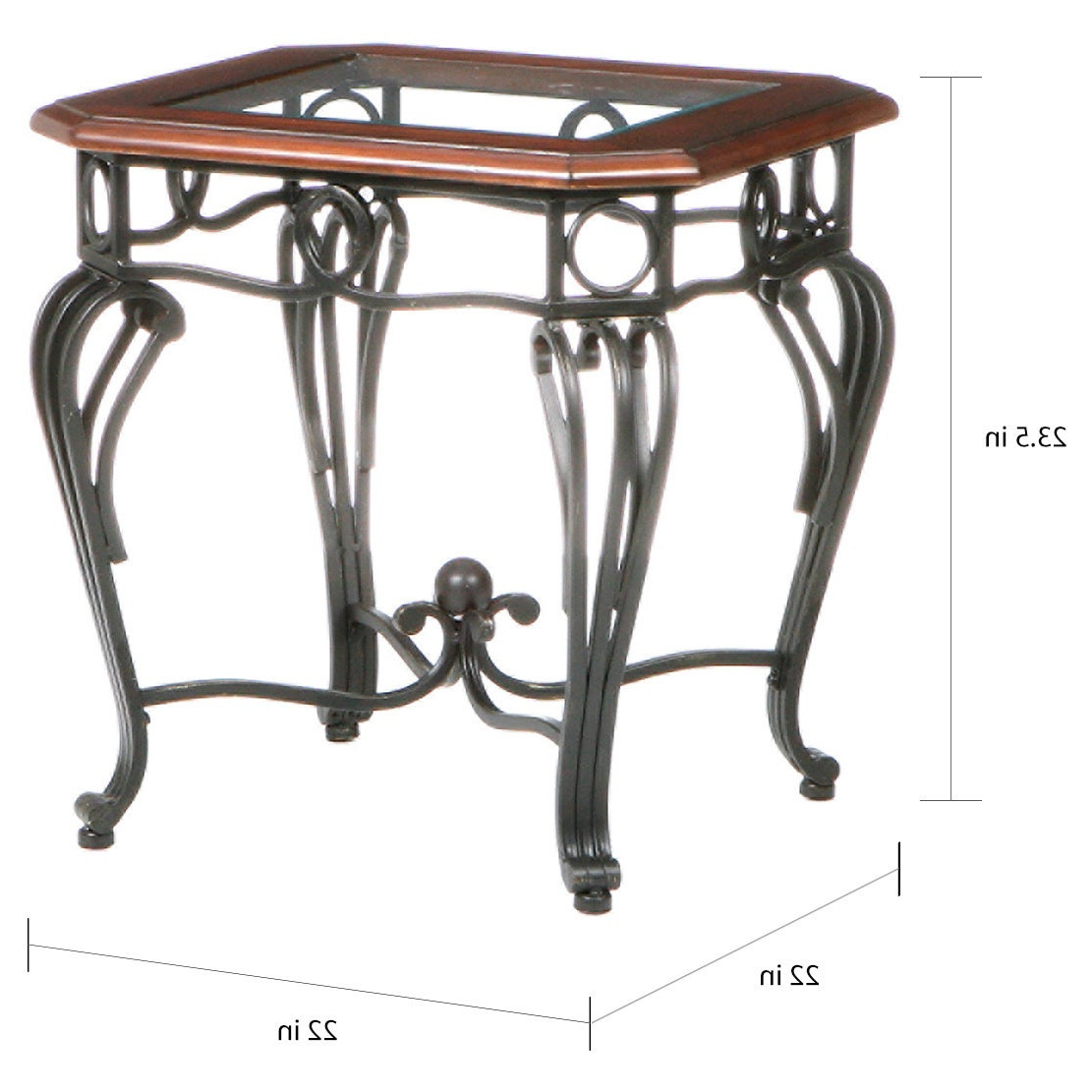 Gracewood Hollow Salinger Glass Top End Table Pertaining To Trendy Gracewood Hollow Salinger Prentice Cocktail Tables (View 4 of 20)