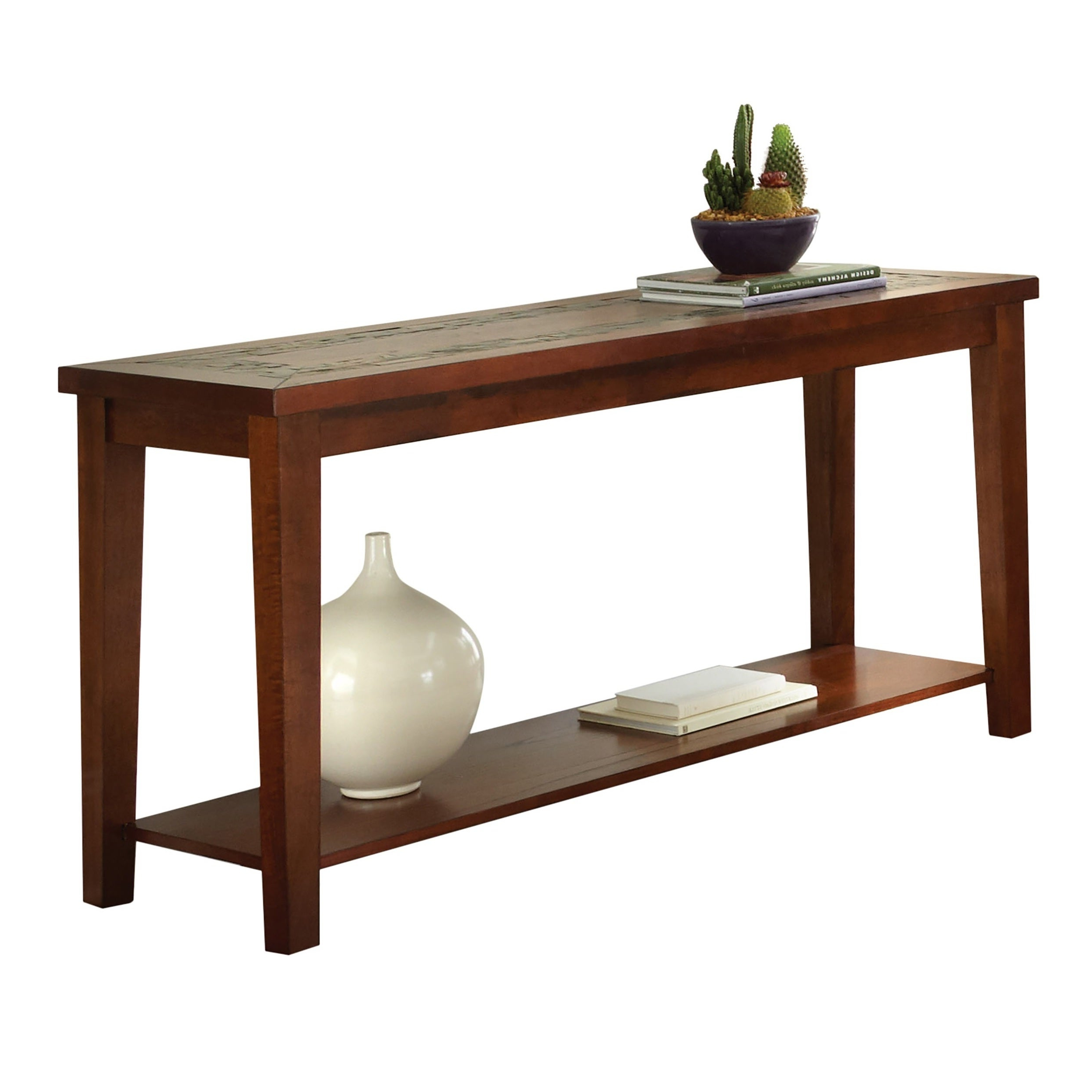 Greyson Living Plymouth Sofa Table In Most Up To Date Copper Grove Ixia Rustic Oak And Slate Tile Coffee Tables (Gallery 18 of 20)