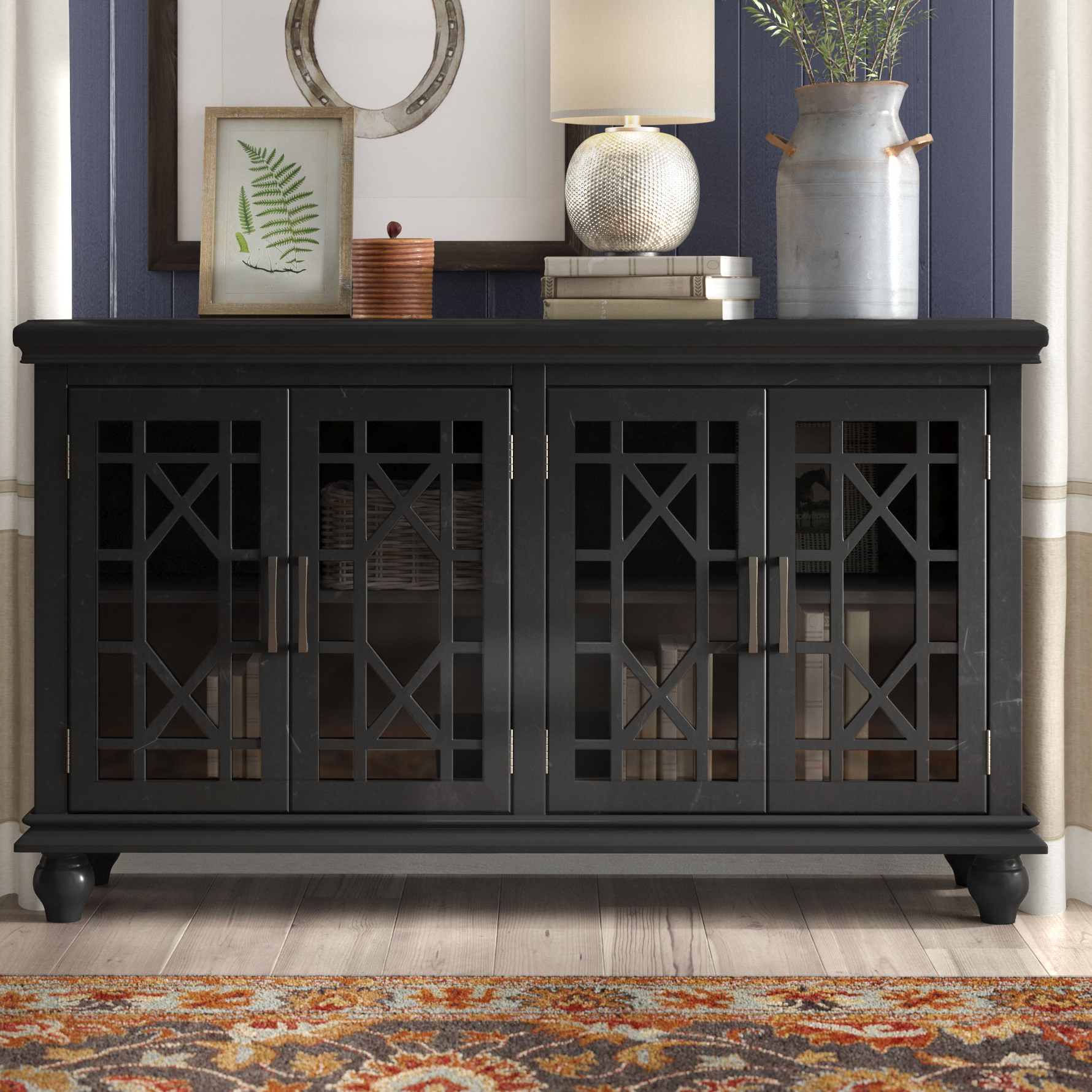 Grondin 4 Door Accent Cabinet For Eau Claire 6 Door Accent Cabinets (View 19 of 20)