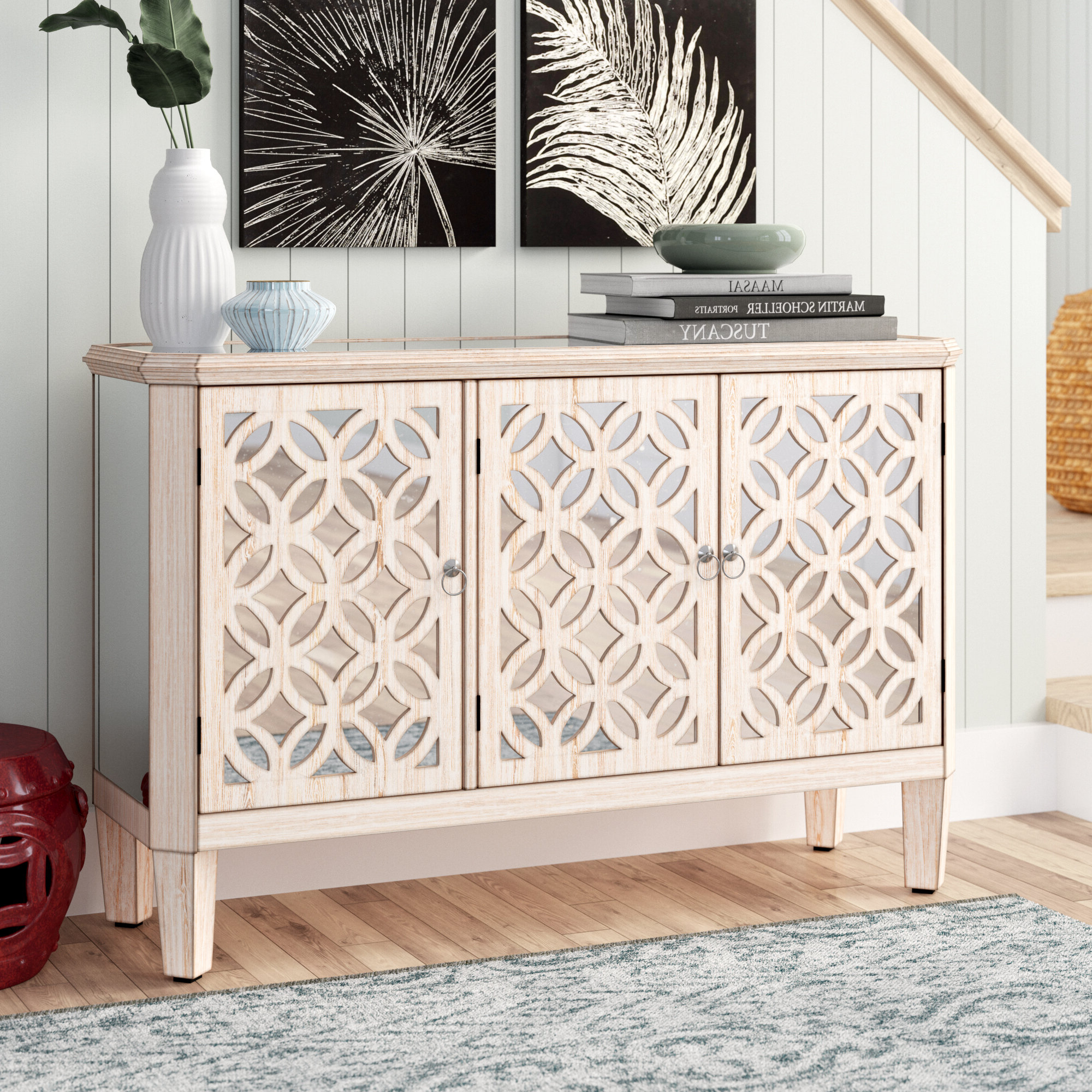 Hand Painted Credenza | Wayfair Intended For Bremner Credenzas (View 9 of 20)