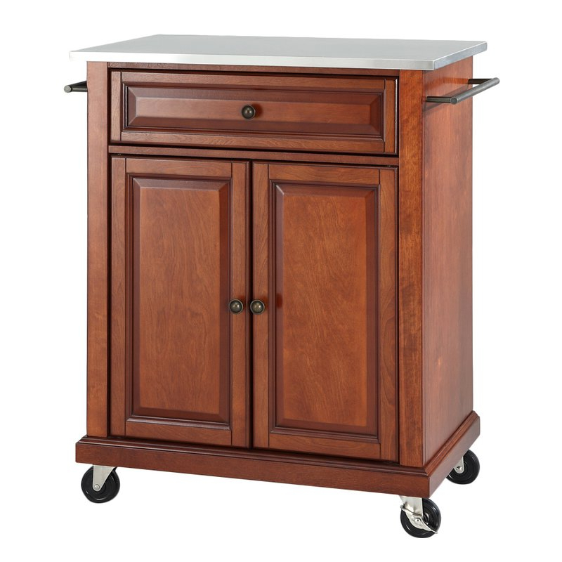 Hedon Kitchen Cart With Stainless Steel Top In Most Popular Hedon Kitchen Pantry (View 9 of 20)