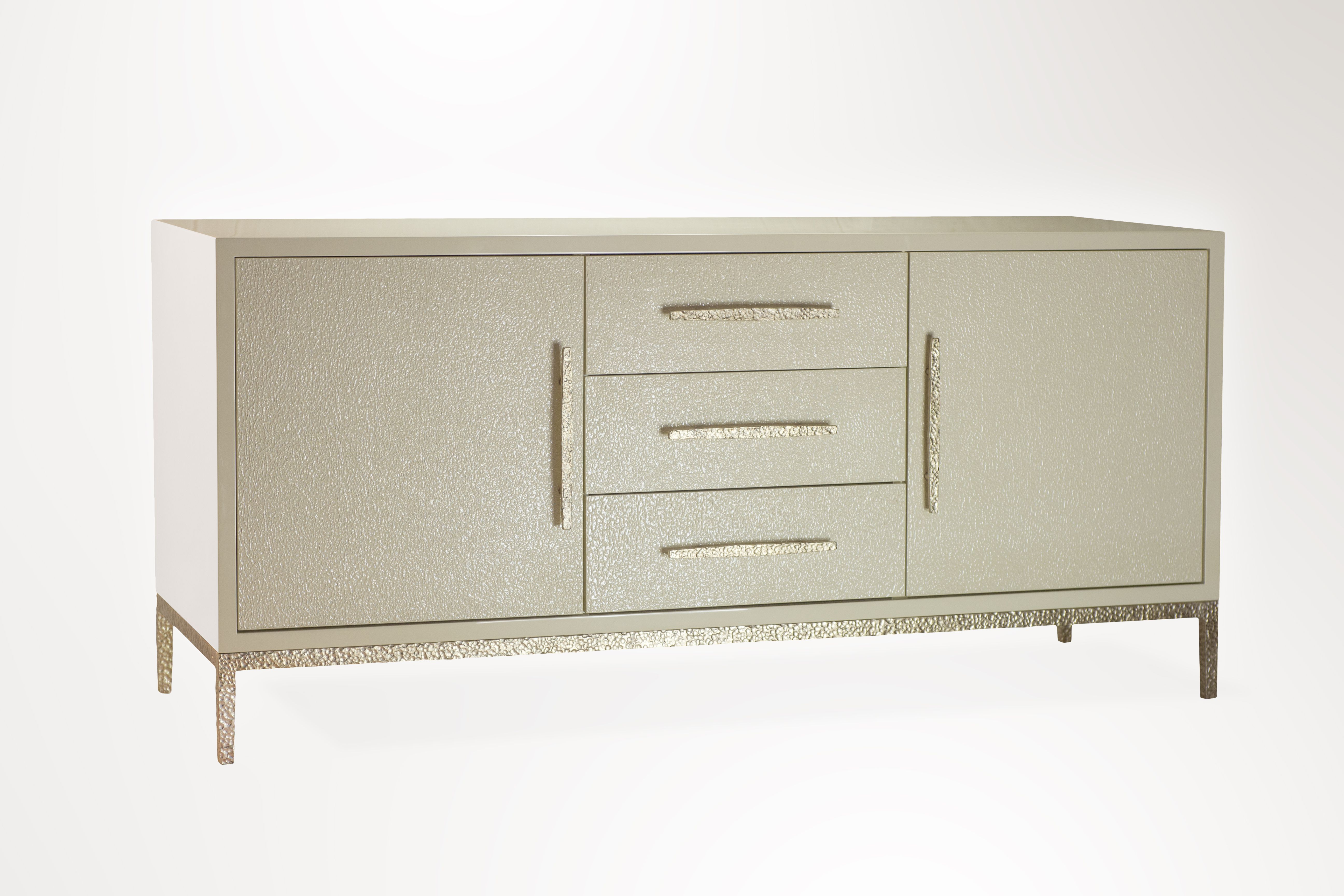 Henham Sideboard – Forge Textured Moongold Gilded Finish Pertaining To Norton Sideboards (View 9 of 20)