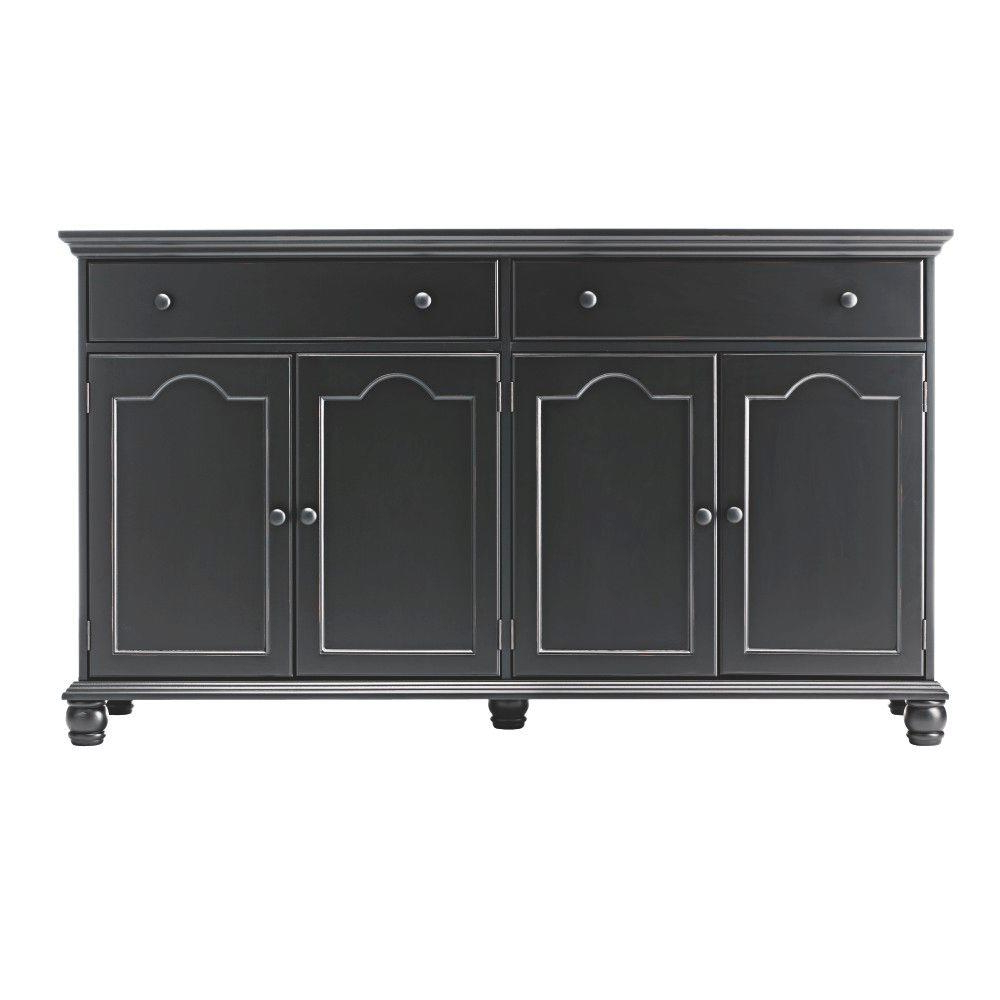 Home Decorators Collection Harwick Black Buffet In 2019 Throughout Hewlett Sideboards (View 7 of 20)