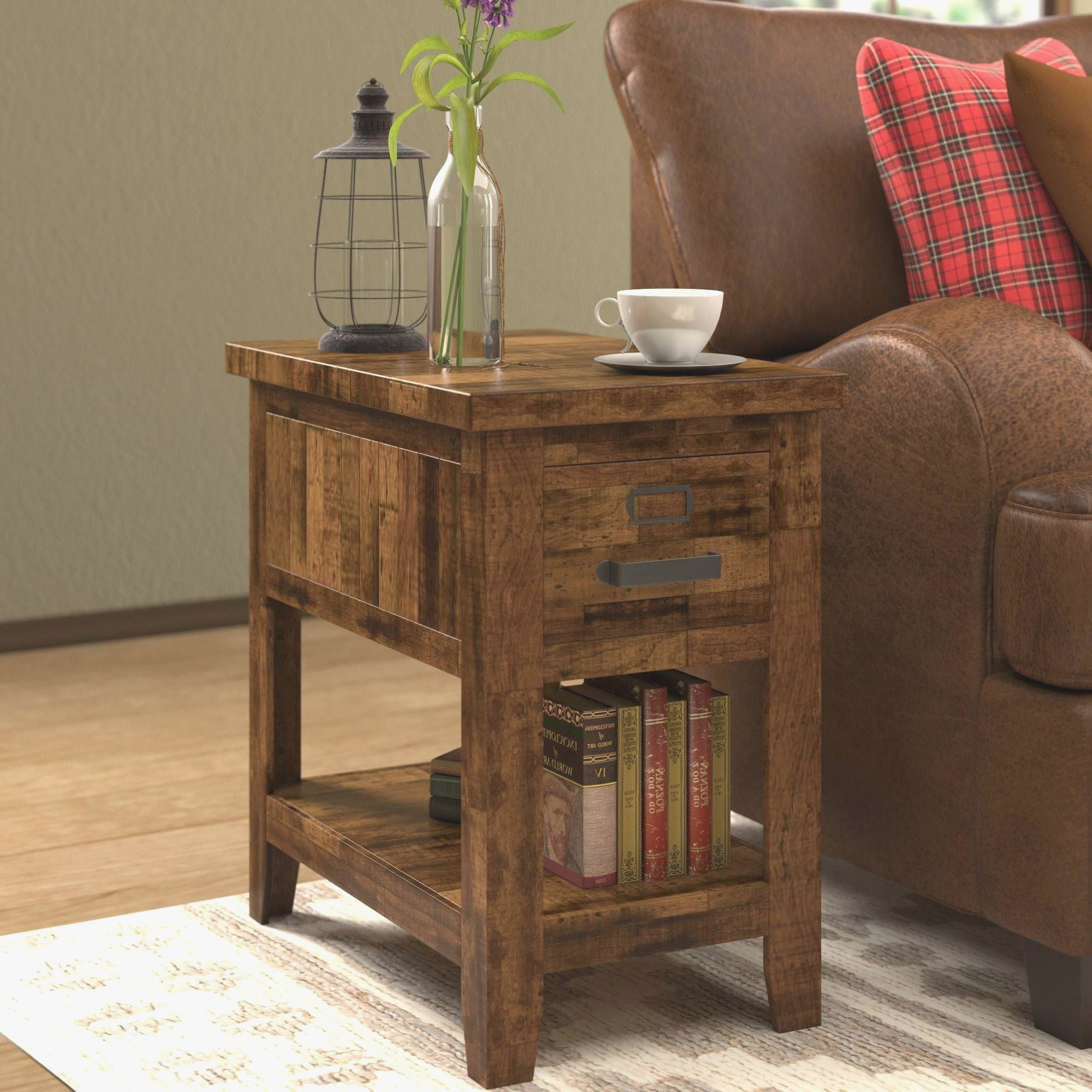 Home Executive Pertaining To Popular Corey Rustic Brown Accent Tables (View 13 of 20)