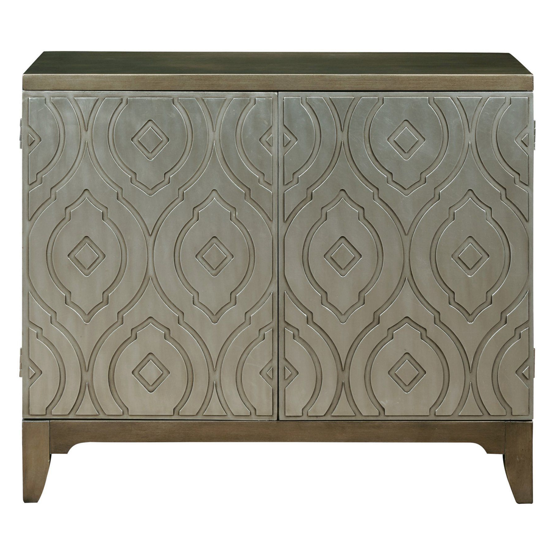 Home Meridian Imperial Metallic Bar Cabinet – Ds P050122 In Lainey Credenzas (View 8 of 20)