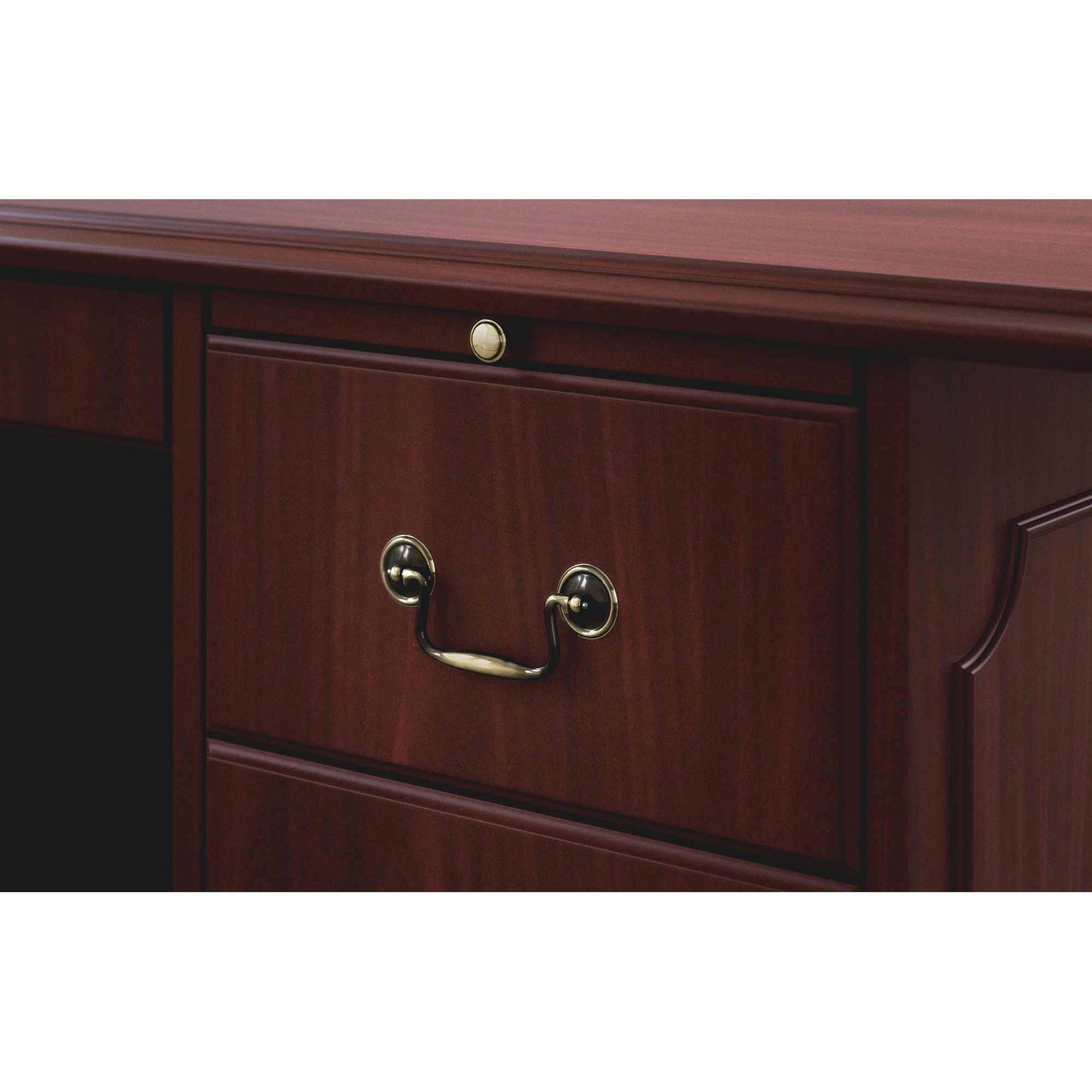 Hon 94000 Series Double Pedestal Desk – Rectangle Top – 4 Throughout Barr Credenzas (View 14 of 20)
