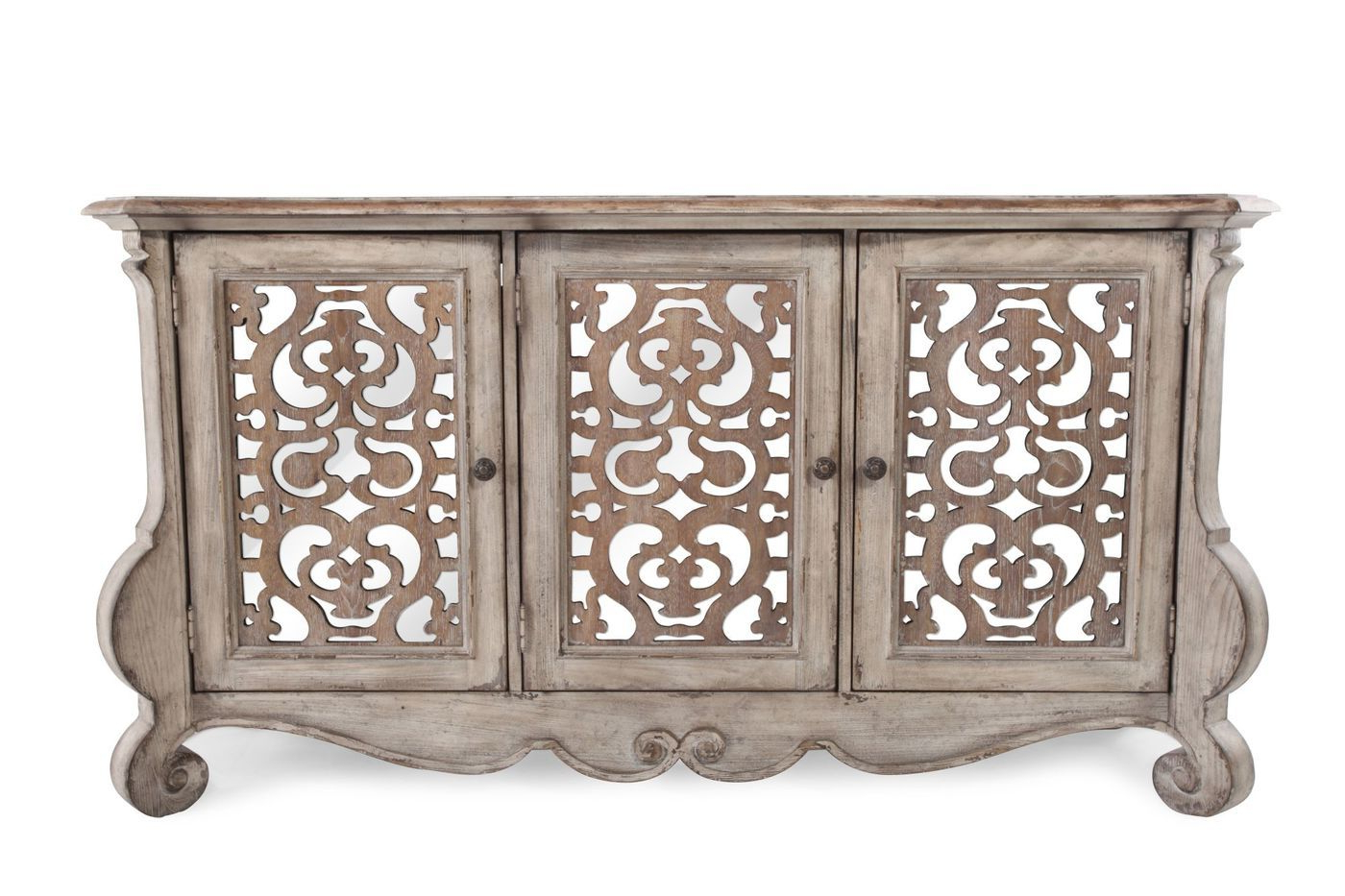 Hooker Chatelet Entertainment Console | Mathis Brothers Throughout Tavant Sideboards (View 14 of 20)