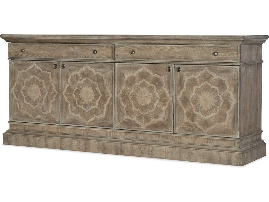 Hooker Furniture Home Entertainment Dahlia Entertainment Within Senda Credenzas (View 14 of 20)