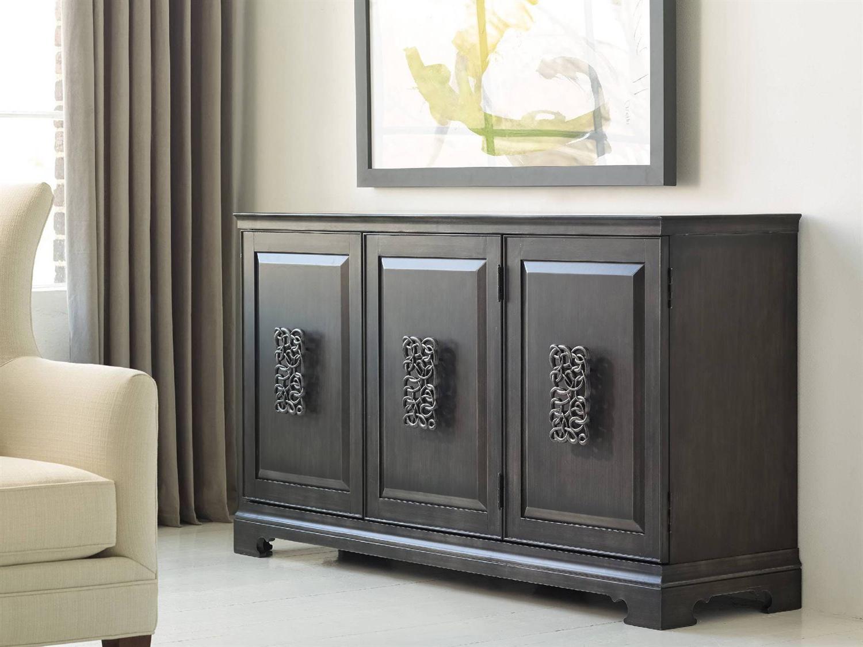 Hooker Furniture Melange Charcoal Gray 64''l X 18''w Rectangular Brockton  Credenza Buffet With Regard To Melange Brockton Sideboards (View 11 of 20)