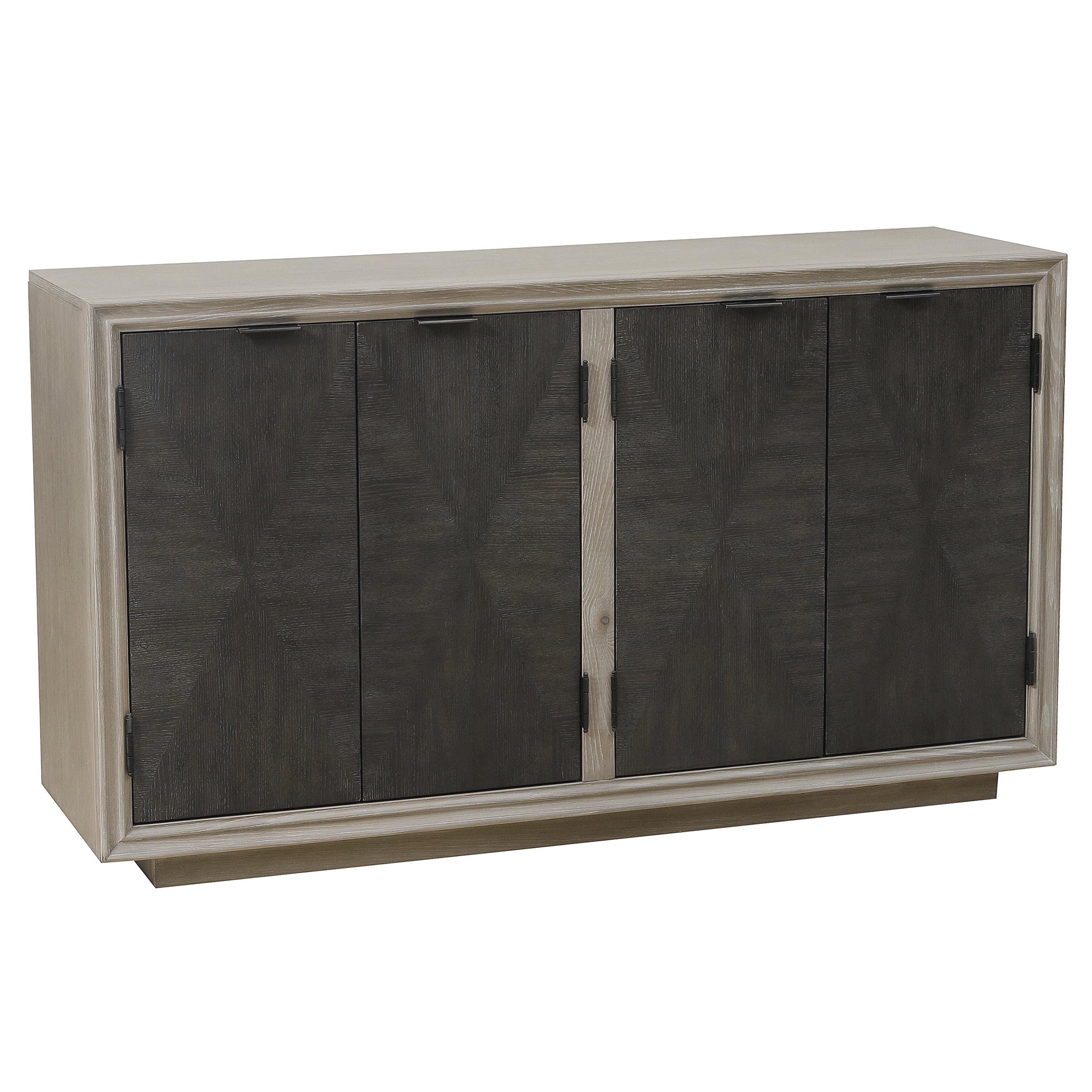 Hoover Four Door Duotone Parquet Sideboard Regarding Massillon Sideboards (View 14 of 20)
