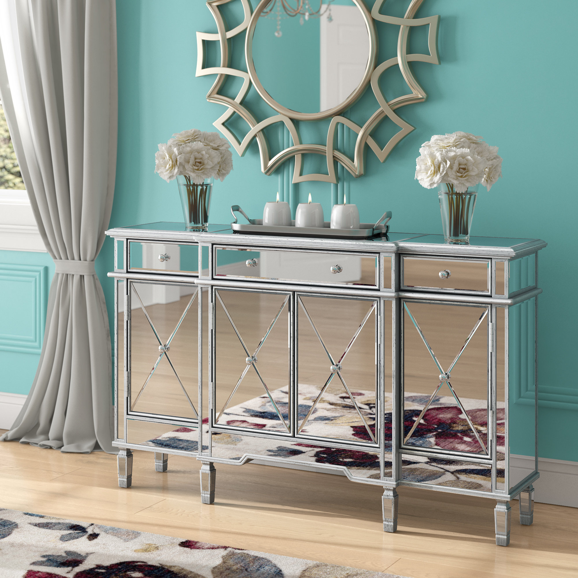 House Of Hampton Castelli Sideboard & Reviews | Wayfair With Castelli Sideboards (View 13 of 20)