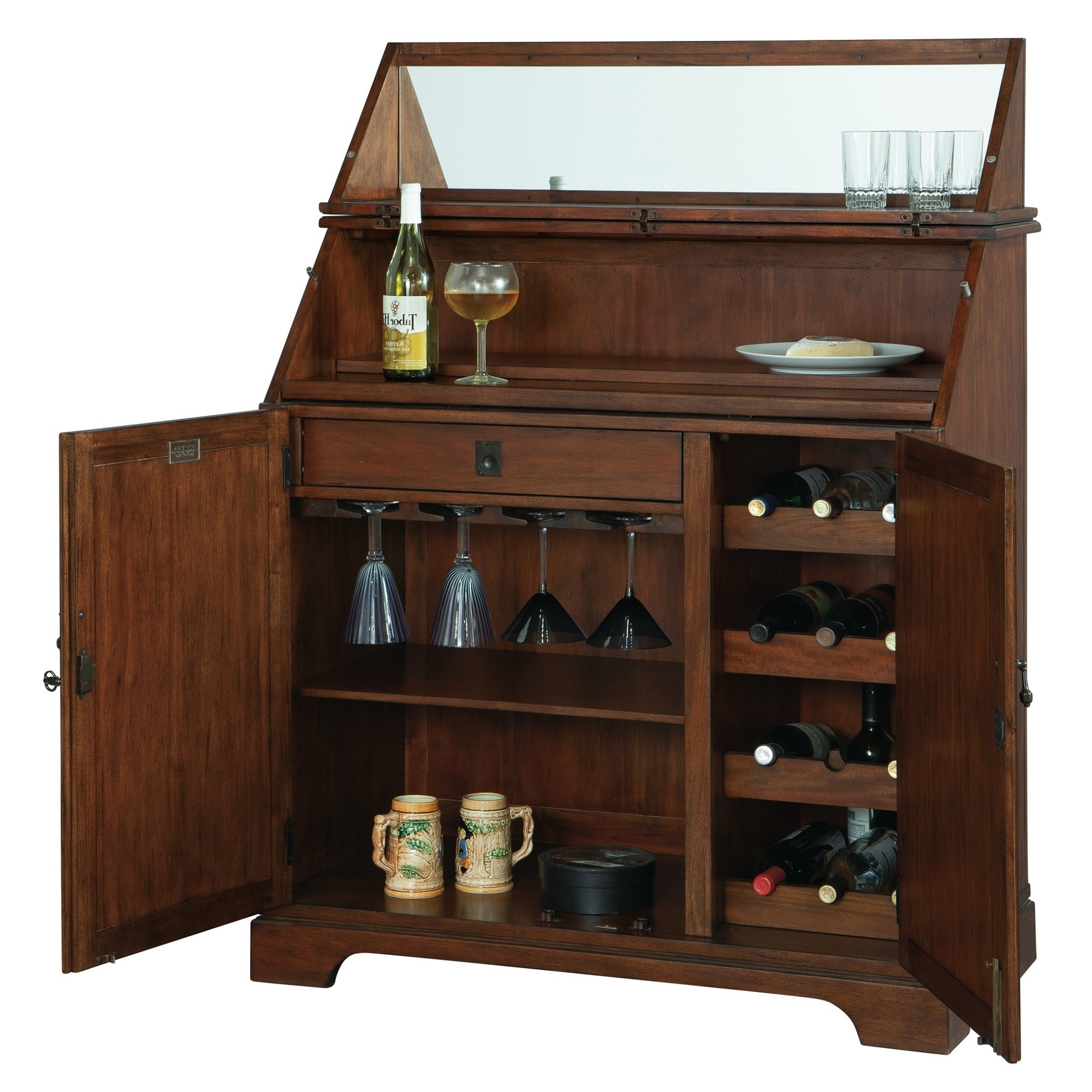 Howard Miller Good Cheer Contemporary, Sleek, Transitional Style, Foyer Liquor Or Wine Cabinet, Sideboard, Or Media Cabinet In Upper Stanton Sideboards (View 19 of 20)