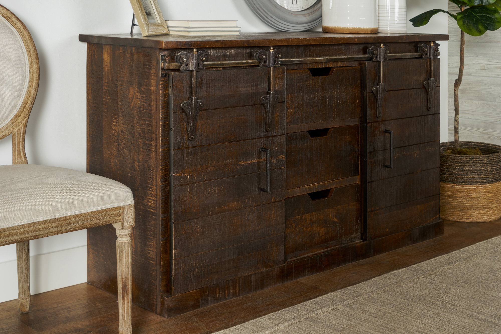 Industrial Sideboard / Credenza Sideboards & Buffets You'll Regarding Alegre Sideboards (View 17 of 20)