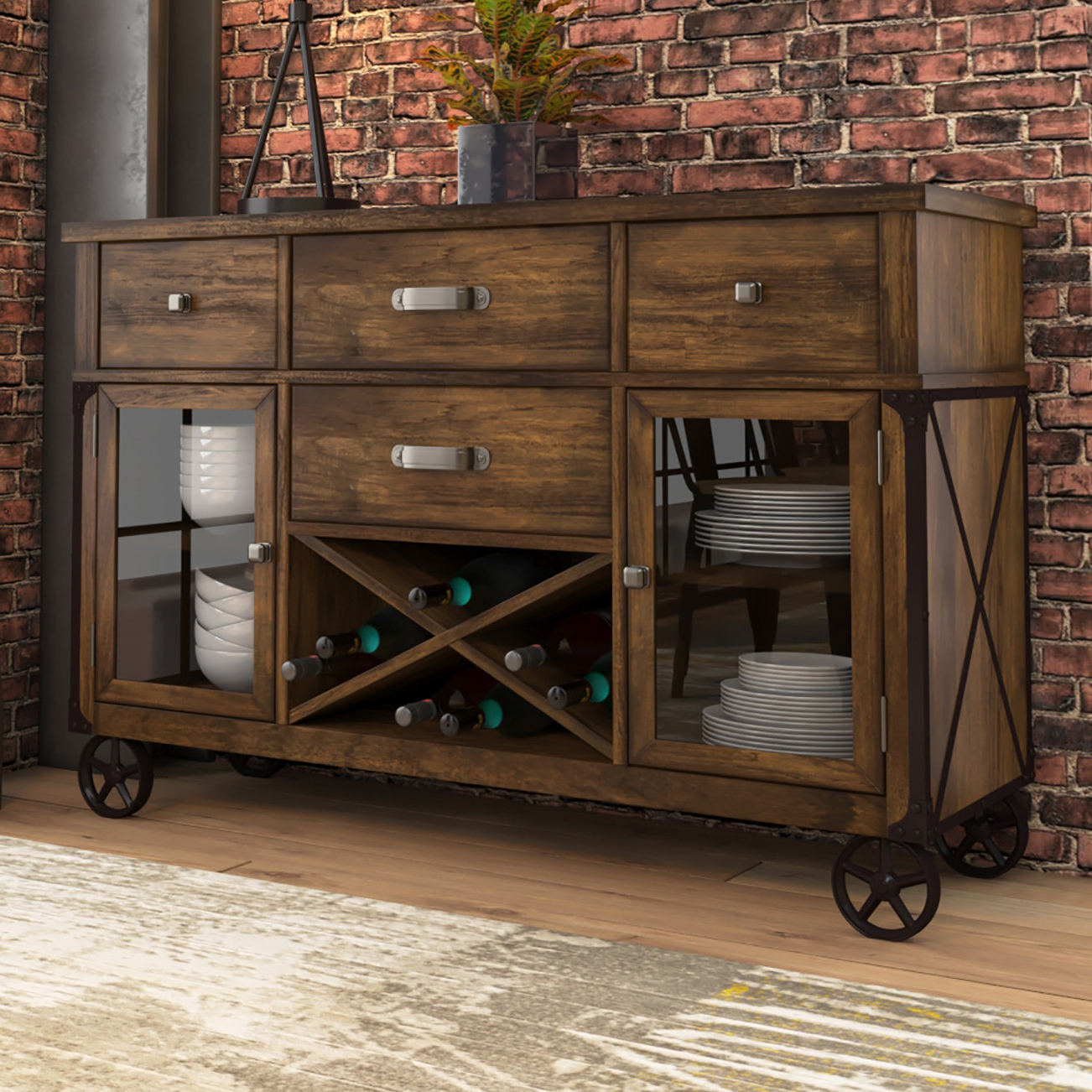 Industrial Sideboards & Buffets You'll Love In 2019 | Wayfair (View 18 of 20)