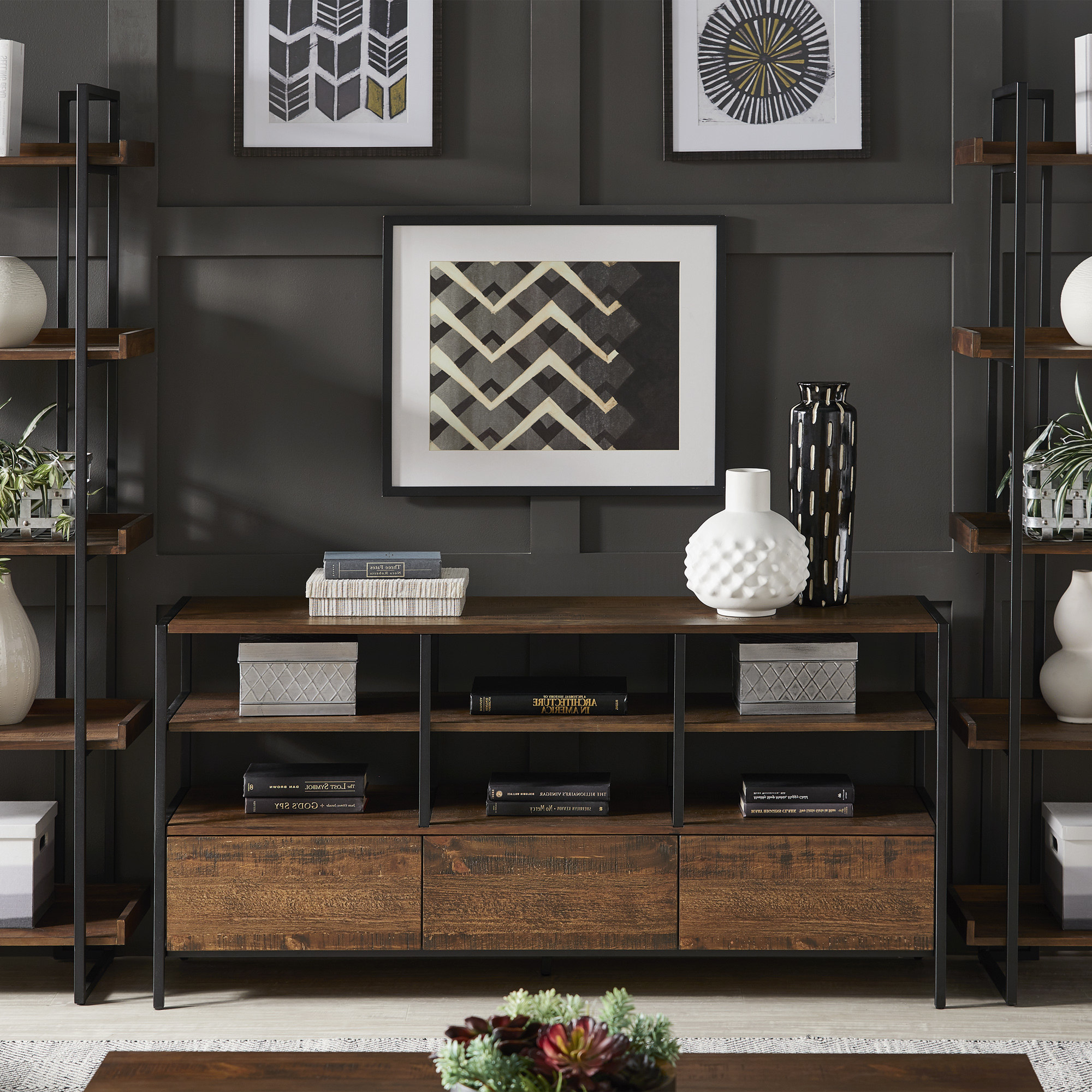 Inspire Q Corey Rustic Brown Tv Stand Console Tables Within Well Liked Corey Rustic Brown Accent Tables (View 12 of 20)