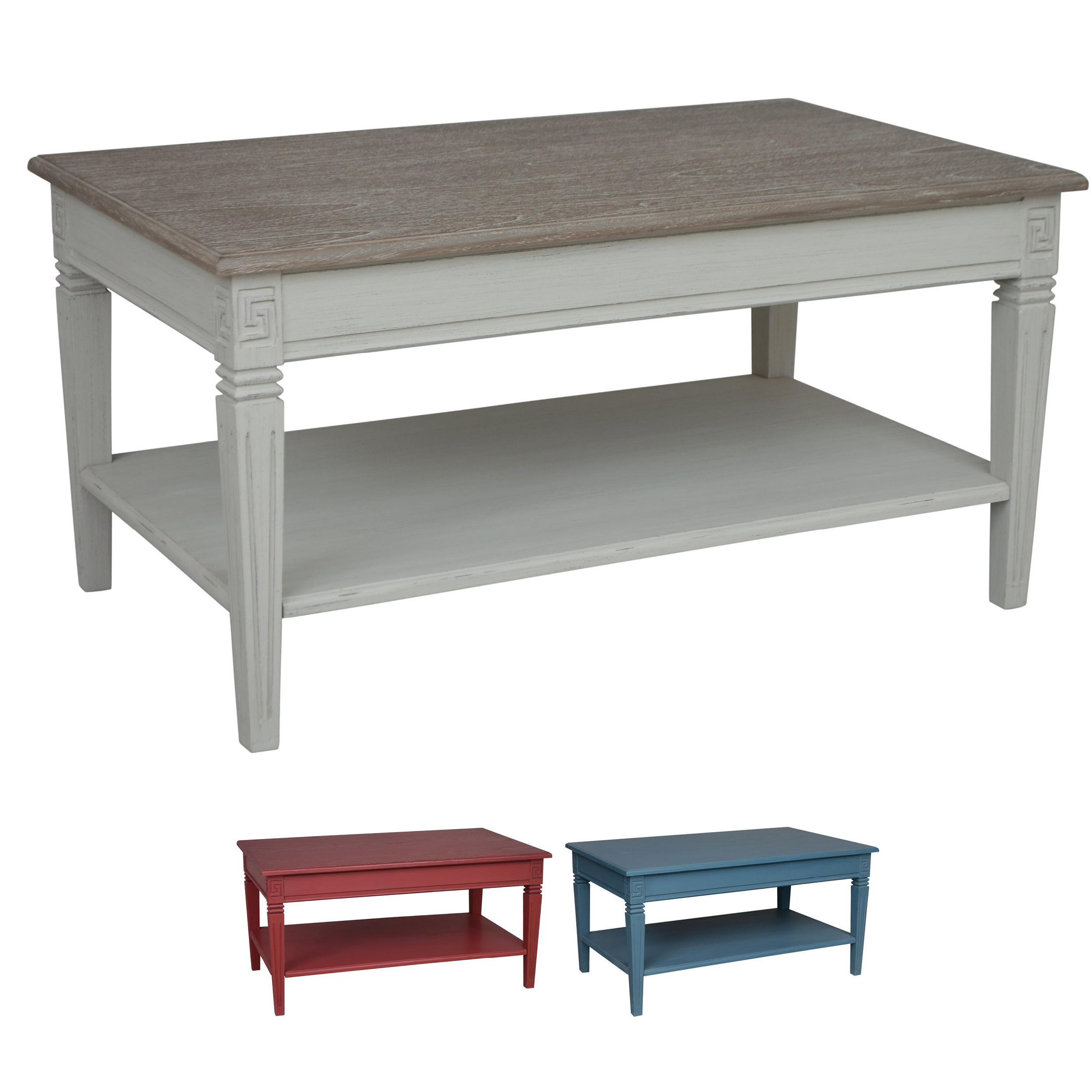 International Caravan Ashbury Coffee Table Pertaining To Popular Alaterre Country Cottage Wooden Long Coffee Tables (View 20 of 20)