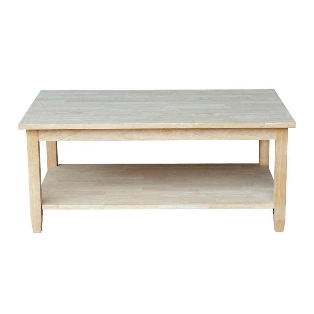 International Concepts Solano Unfinished Coffee Table Ot 6C With Regard To Best And Newest Unfinished Solid Parawood Square Coffee Tables (View 4 of 20)