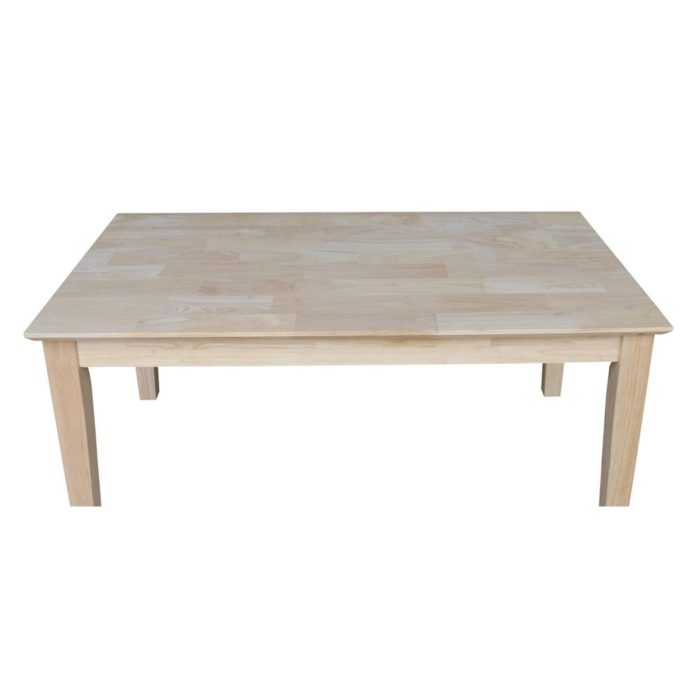 International Concepts Unfinished Coffee Table Ot 9tc – The Pertaining To Most Recently Released Unfinished Solid Parawood Square Coffee Tables (View 15 of 20)