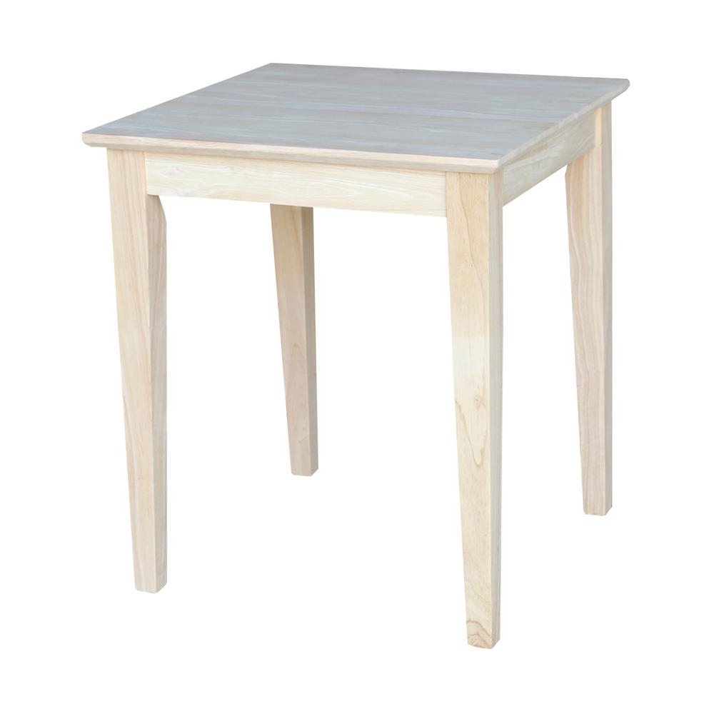 International Concepts Unfinished End Table Ot 9te – The Inside Well Known Shaker Unfinished Solid Parawood Tall Coffee Tables (View 6 of 20)