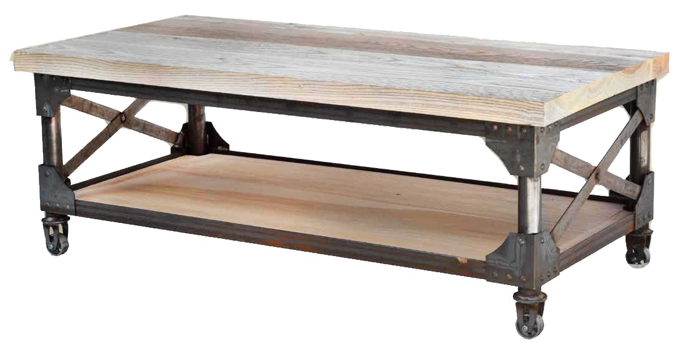 Iron Coffee Table – Table Design Ideas Throughout Newest Carbon Loft Fischer Brown Solid Birch And Iron Rustic Coffee Tables (View 11 of 20)