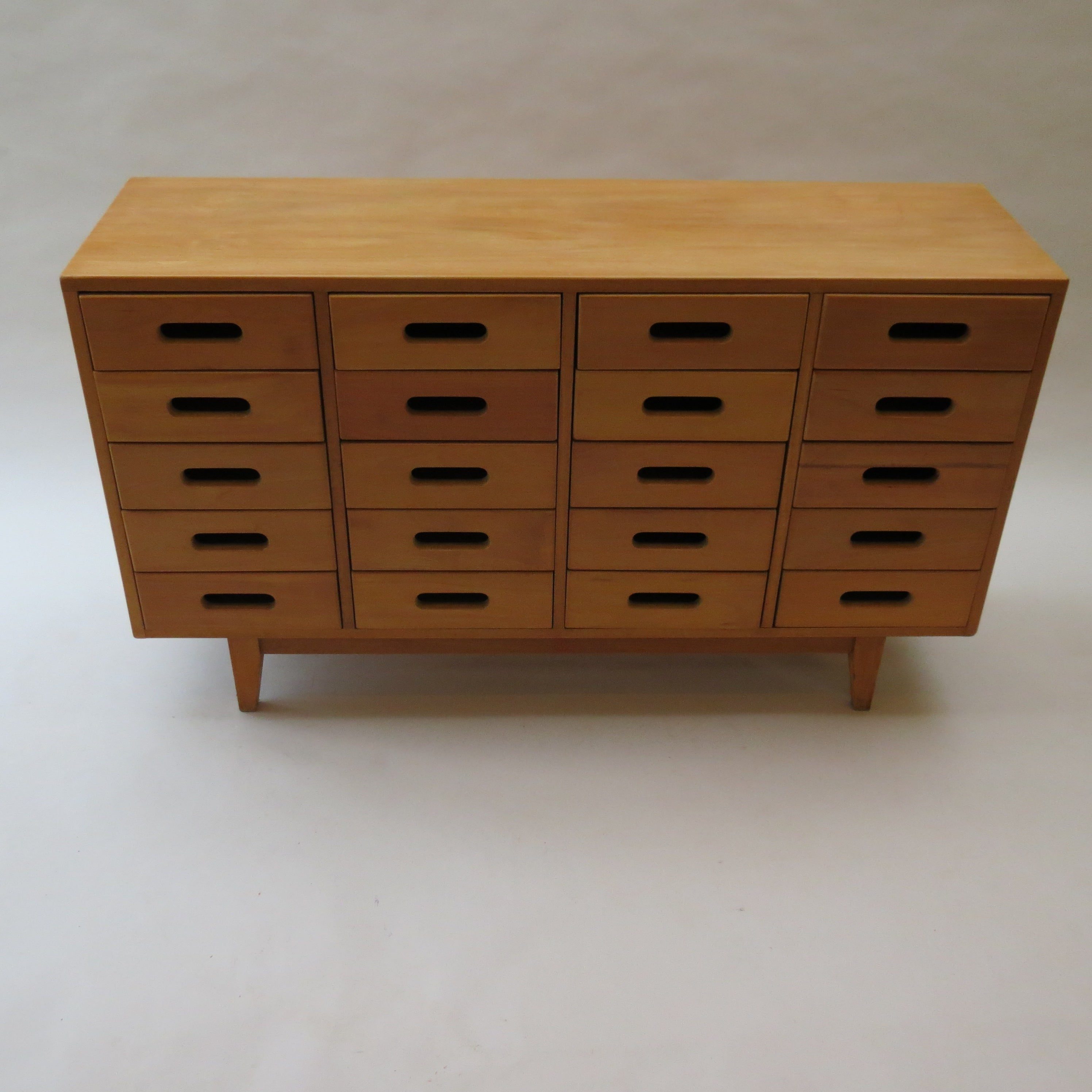 James Leonard Chest Of Drawers In Beechesavian, 1950s Within Drummond 4 Drawer Sideboards (View 20 of 20)