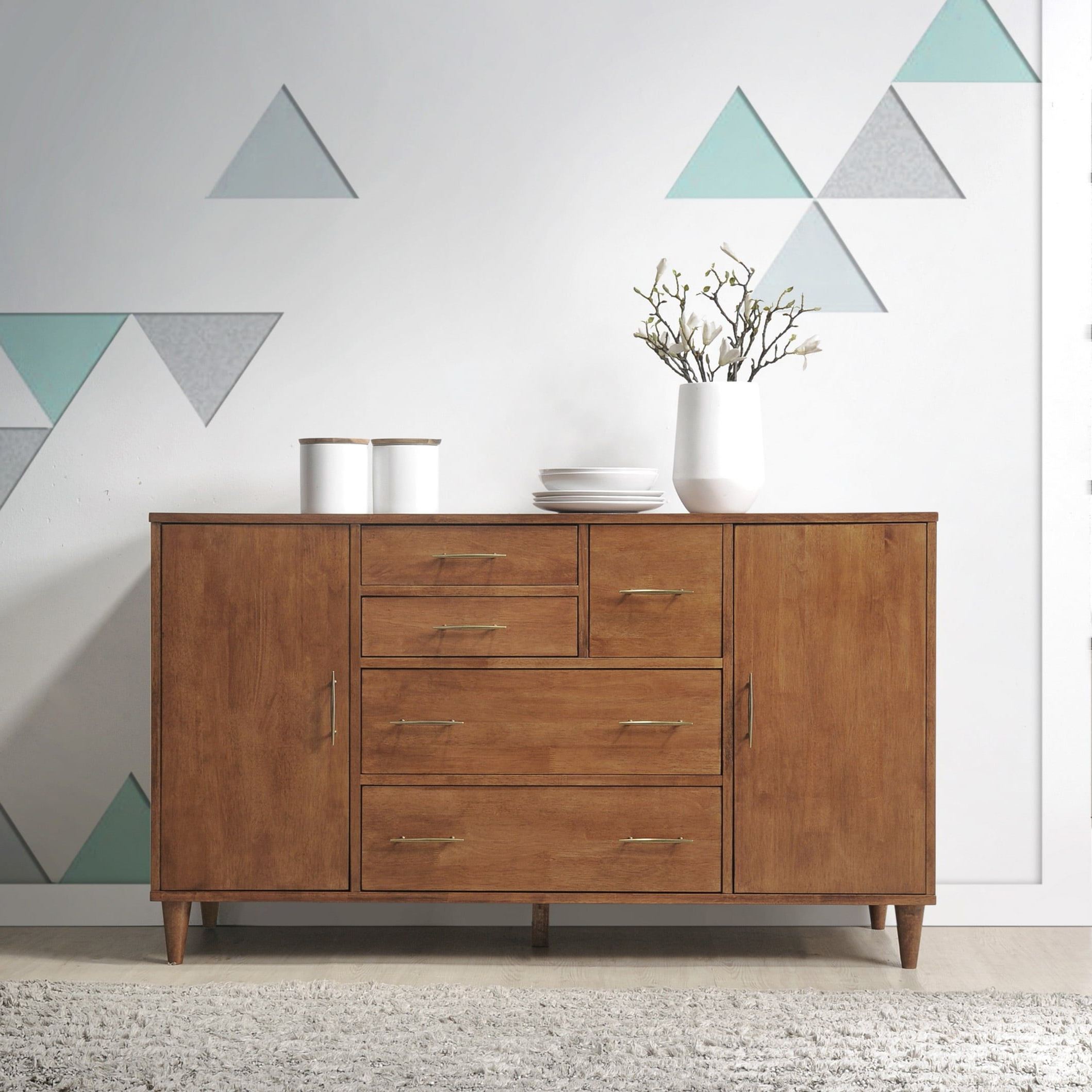 Jasper Laine Ana Oak Dining Room Buffet | Upland Kitchen Intended For Keiko Modern Bookmatch Sideboards (View 5 of 20)