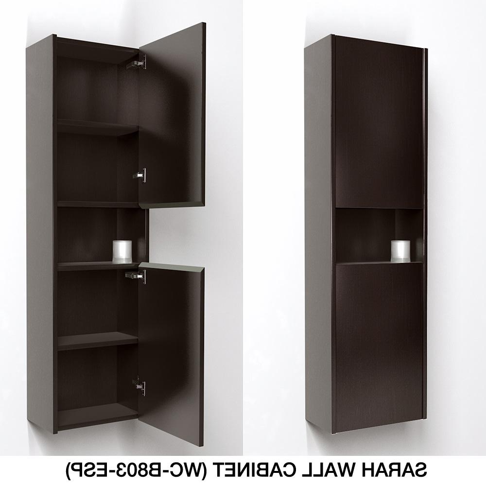 "Katy 48"" Single Bathroom Vanity Setwyndham Collection – Espresso Pertaining To Kattie 4 Door Cabinets (View 20 of 20)"