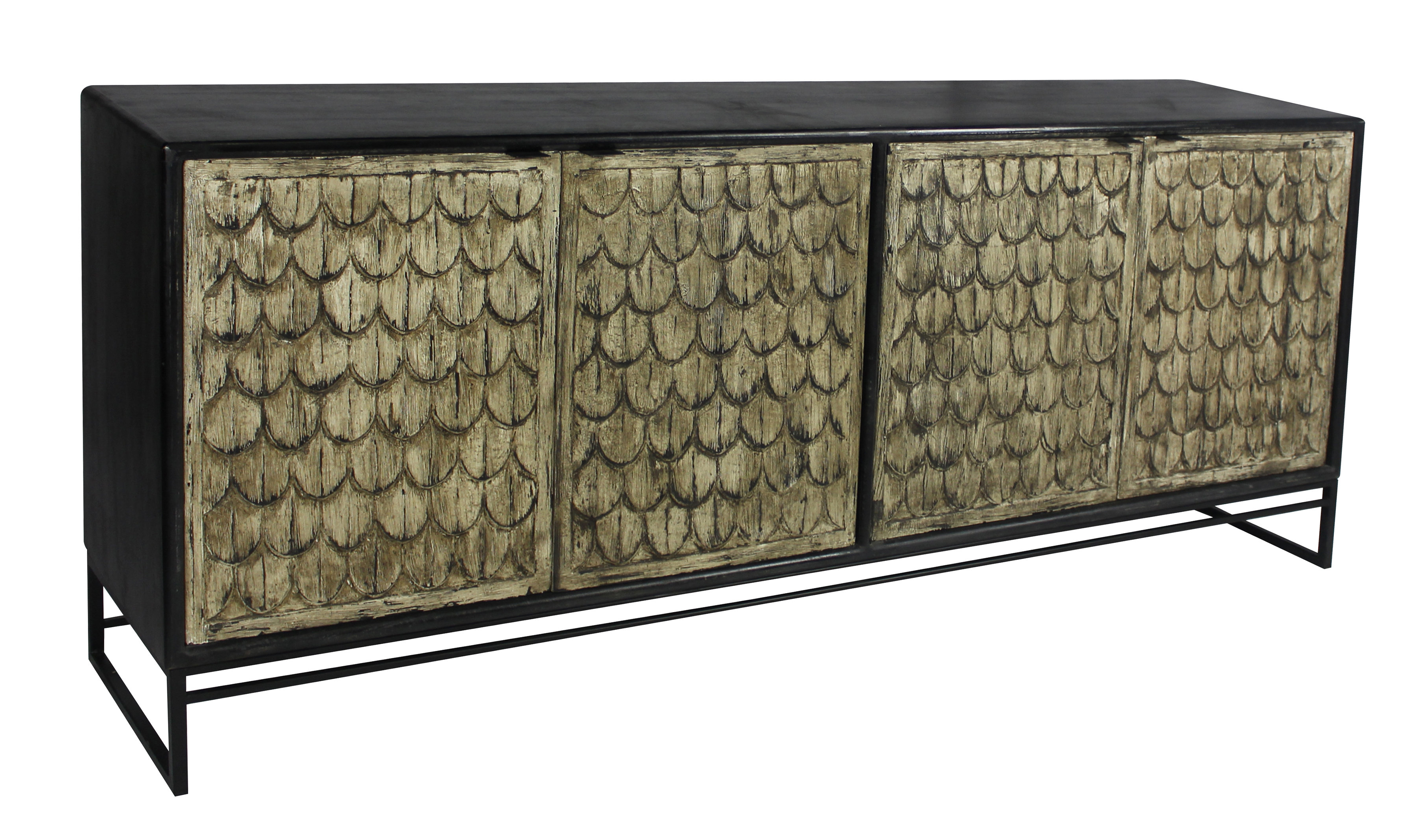 Keith 4 Door Credenza | Wayfair Throughout Kieth 4 Door Credenzas (View 4 of 20)